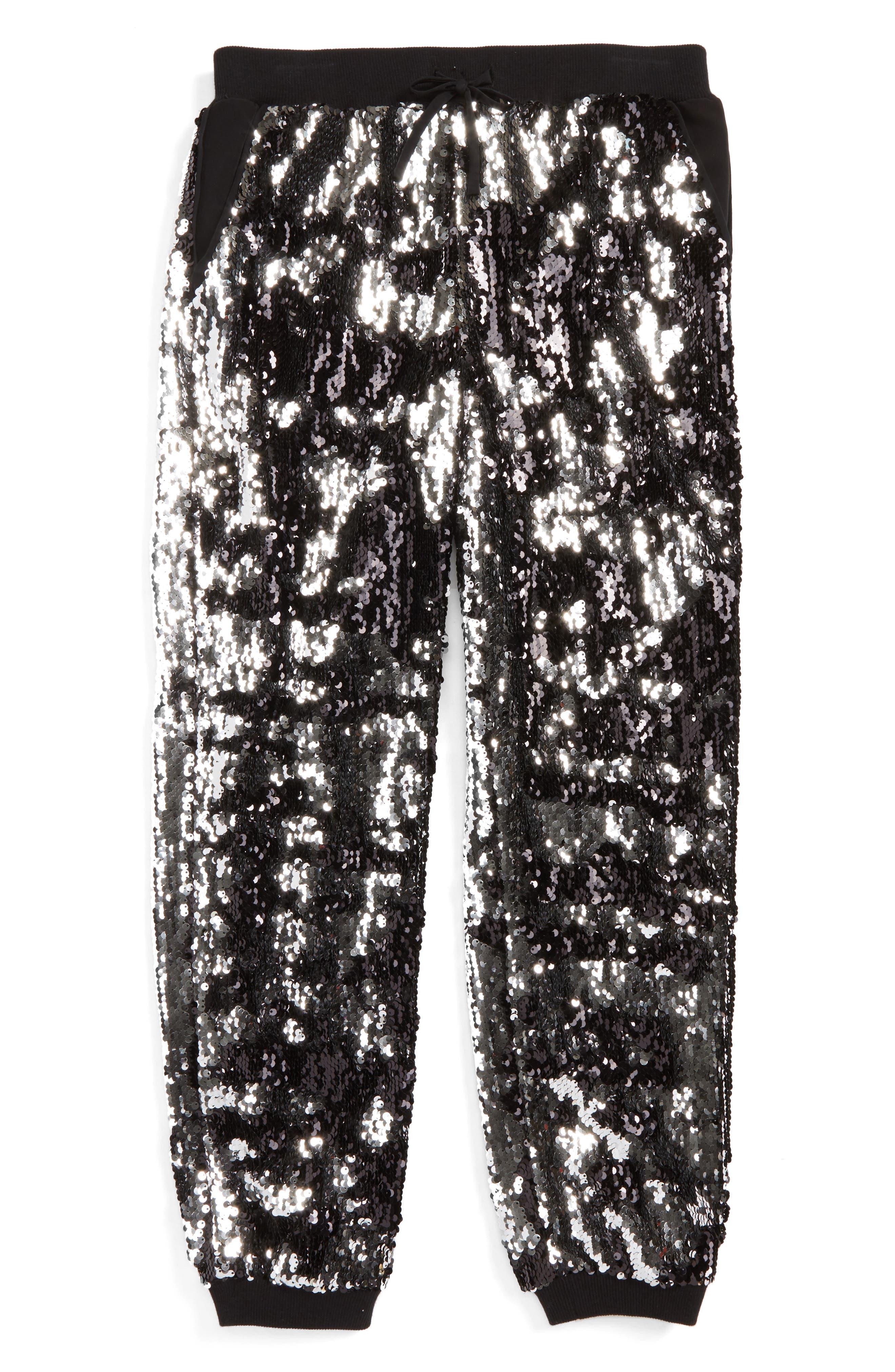 Sequin Jogger Pants,                             Main thumbnail 1, color,                             003