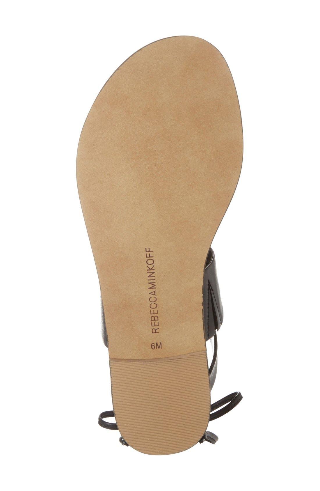 'Emma' Ankle Cuff Sandal,                             Alternate thumbnail 4, color,                             001