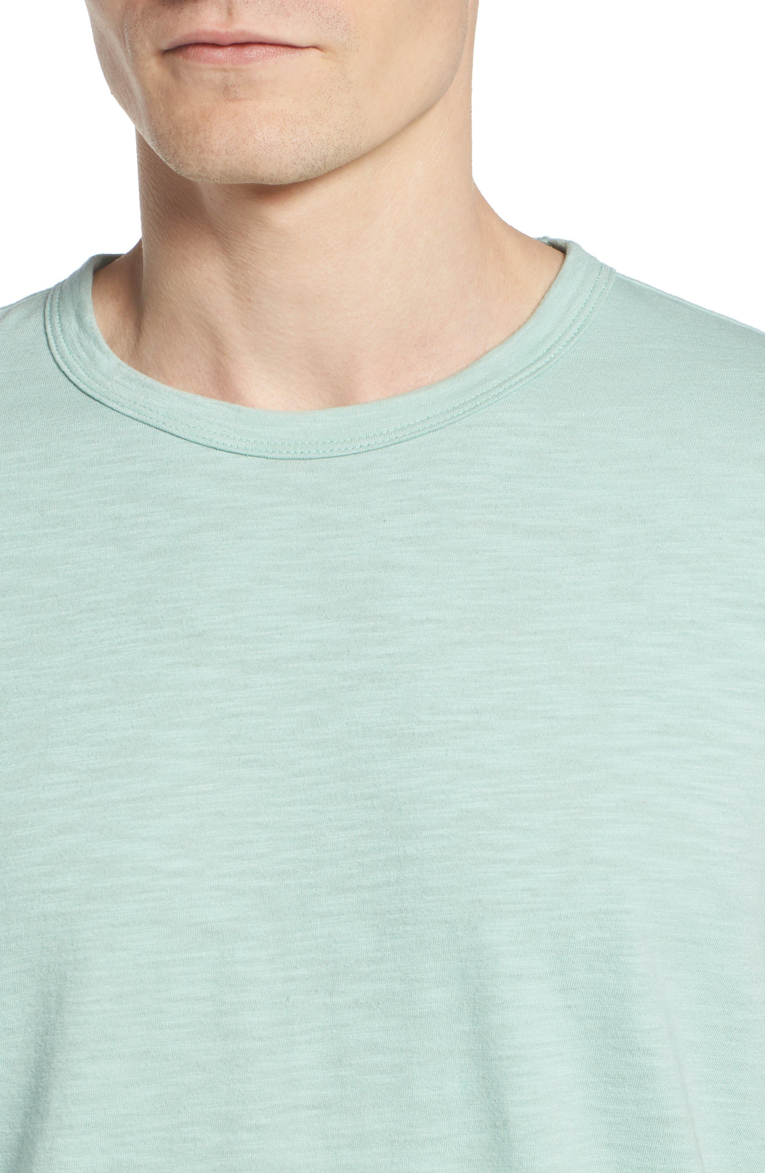 + Champion Crewneck T-Shirt,                             Alternate thumbnail 4, color,                             VINTAGE AQUA