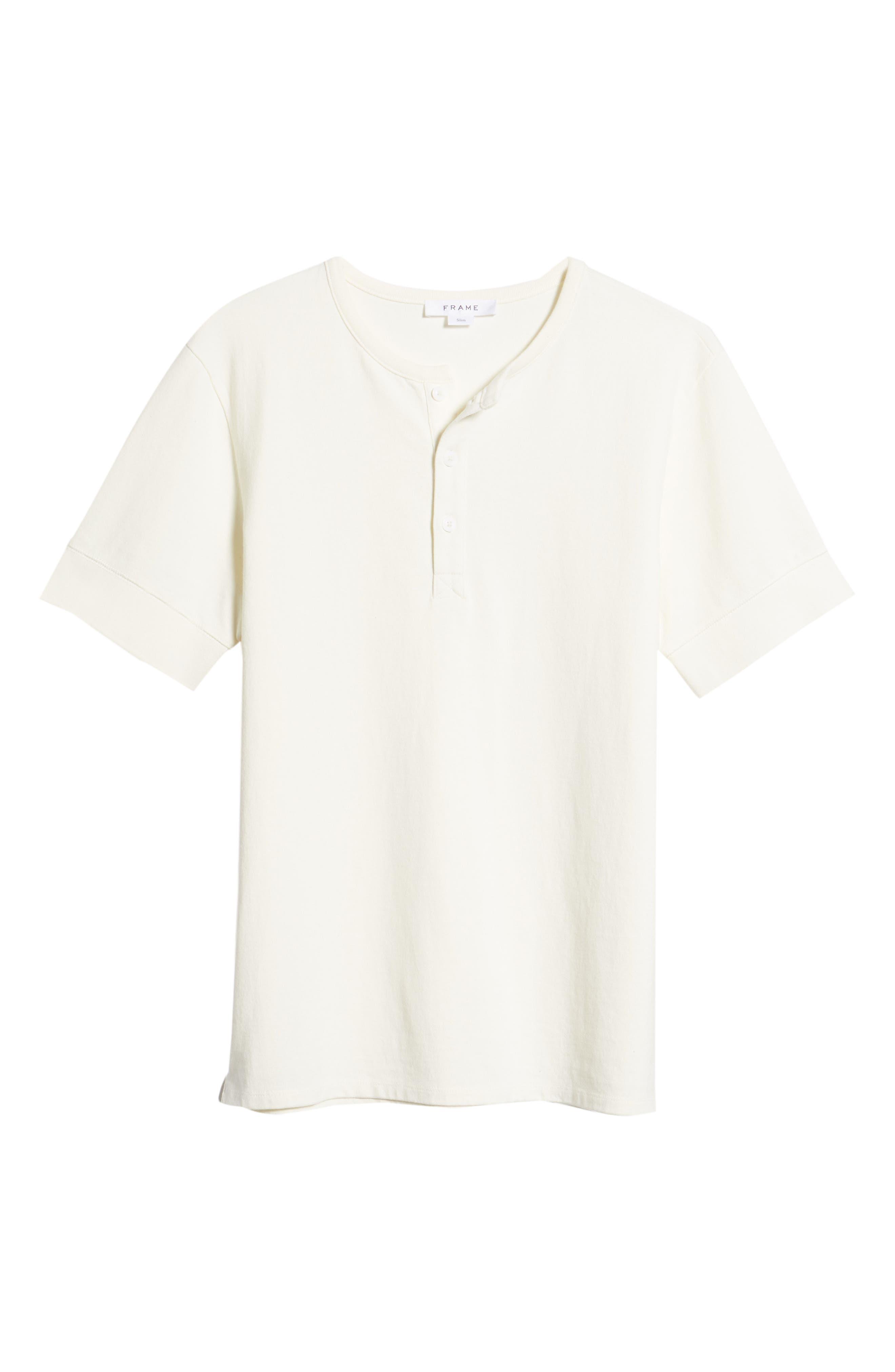 Slim Fit Henley T-Shirt,                             Alternate thumbnail 6, color,                             OFF WHITE