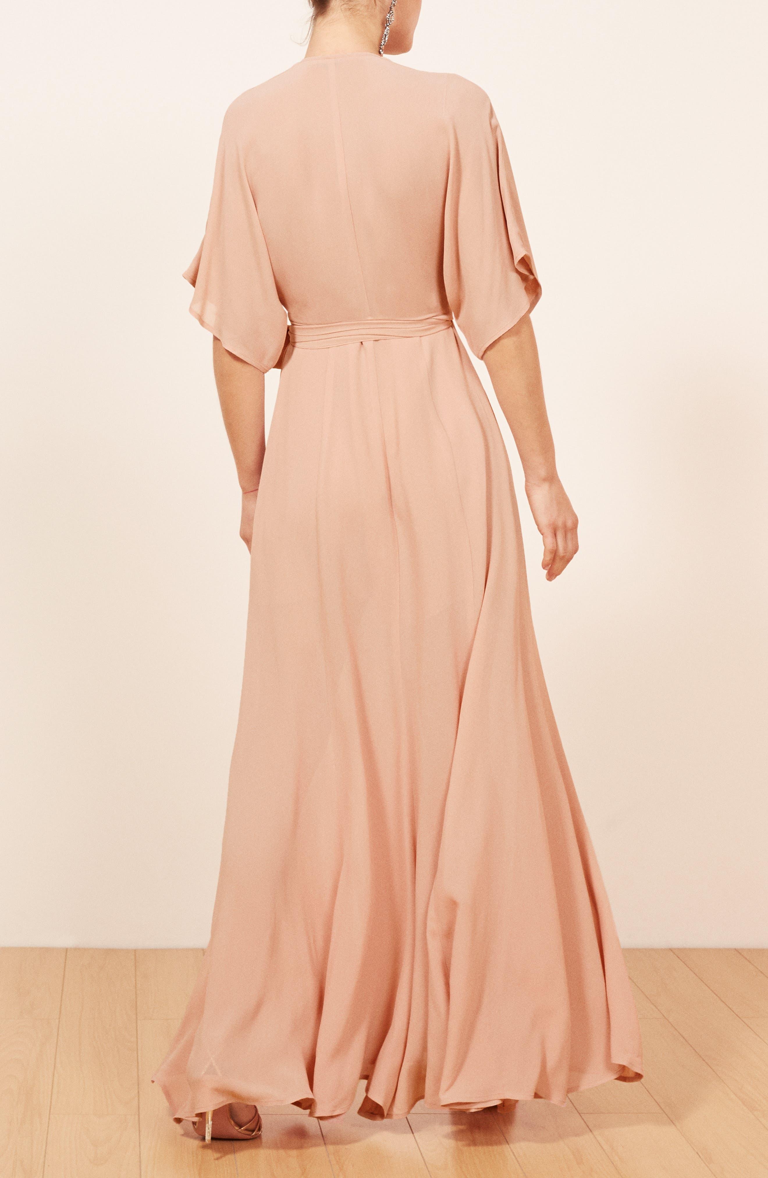 REFORMATION,                             Winslow Maxi Dress,                             Alternate thumbnail 3, color,                             BLUSH