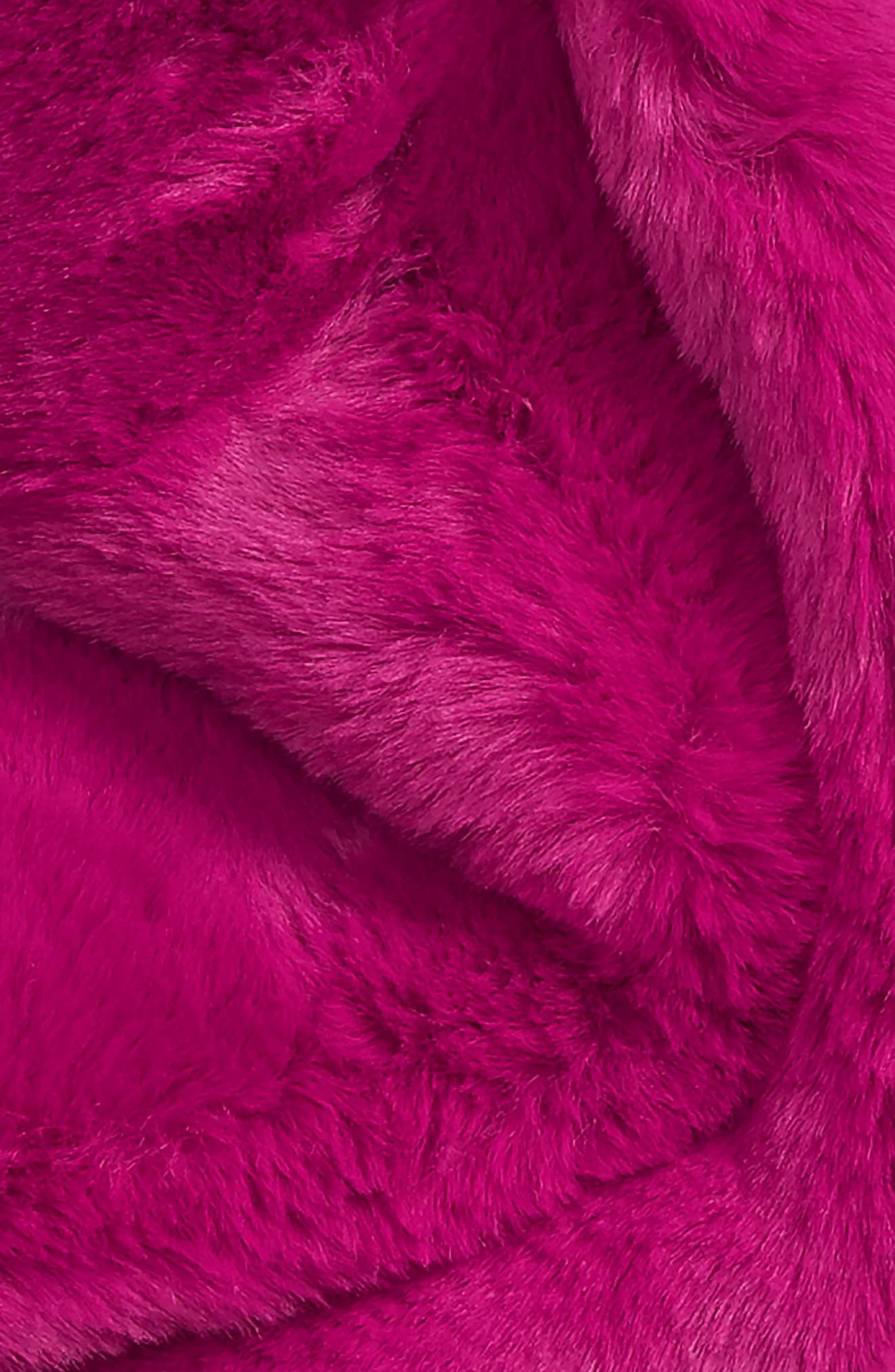 Faux Fur Long Scarf,                             Alternate thumbnail 4, color,                             PINK PLUMIER