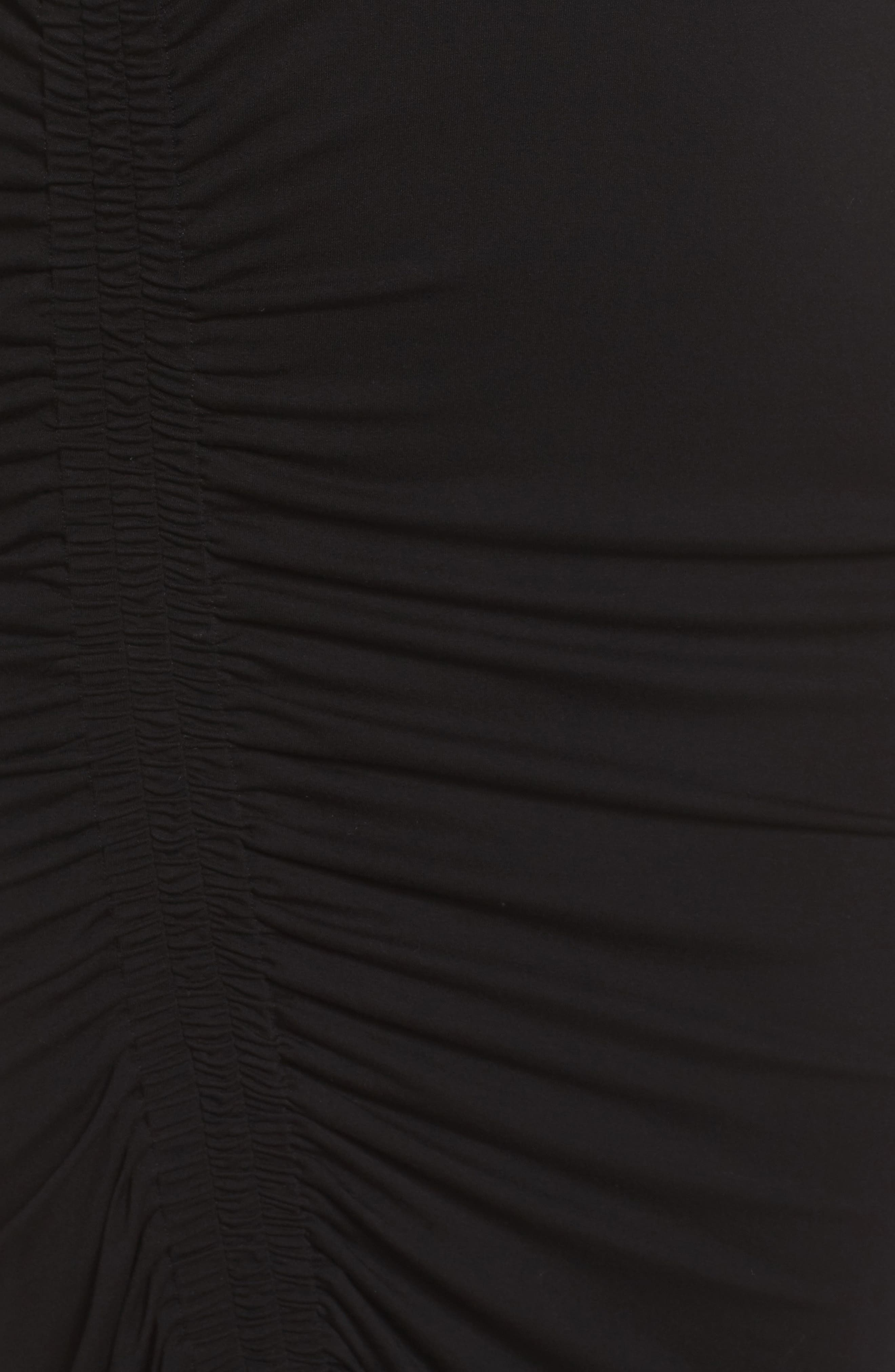 Side Ruched Sheath Dress,                             Alternate thumbnail 5, color,                             006