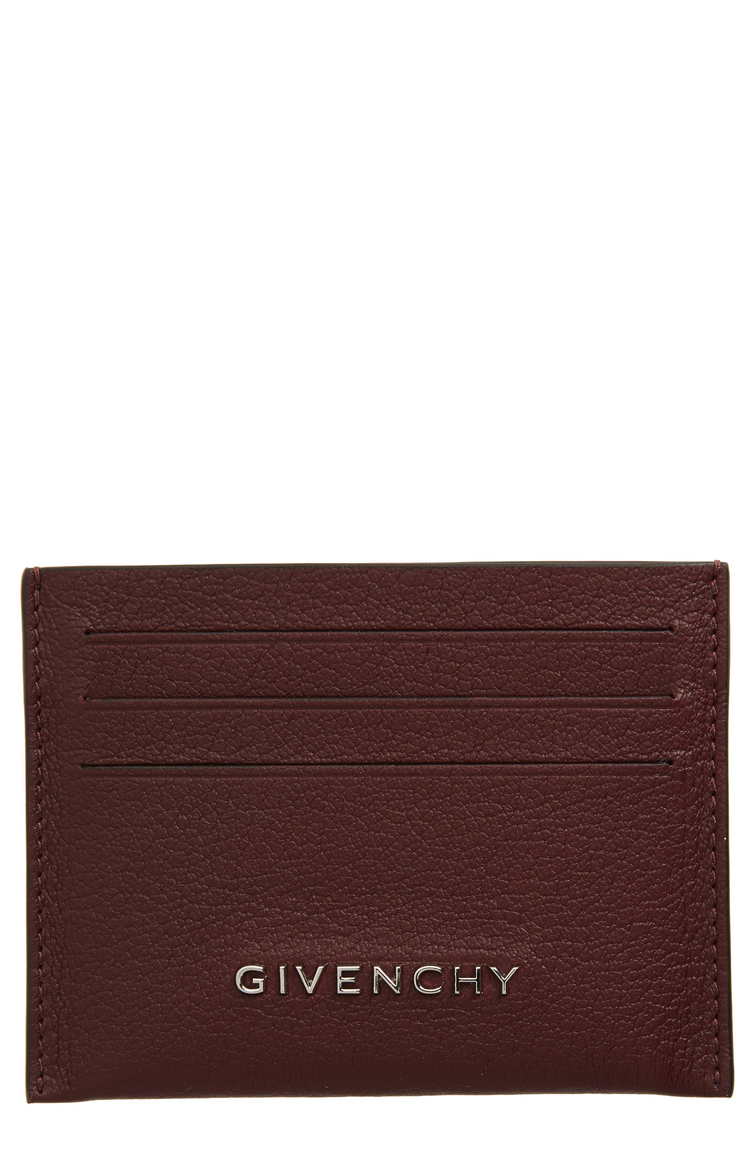 'Pandora' Card Case,                         Main,                         color, AUBERGINE