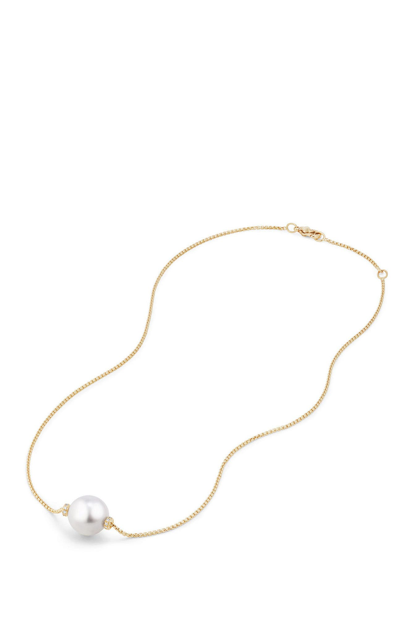 Solari Pearl Station Necklace,                             Alternate thumbnail 2, color,                             YELLOW GOLD/ SOUTH SEA WHITE