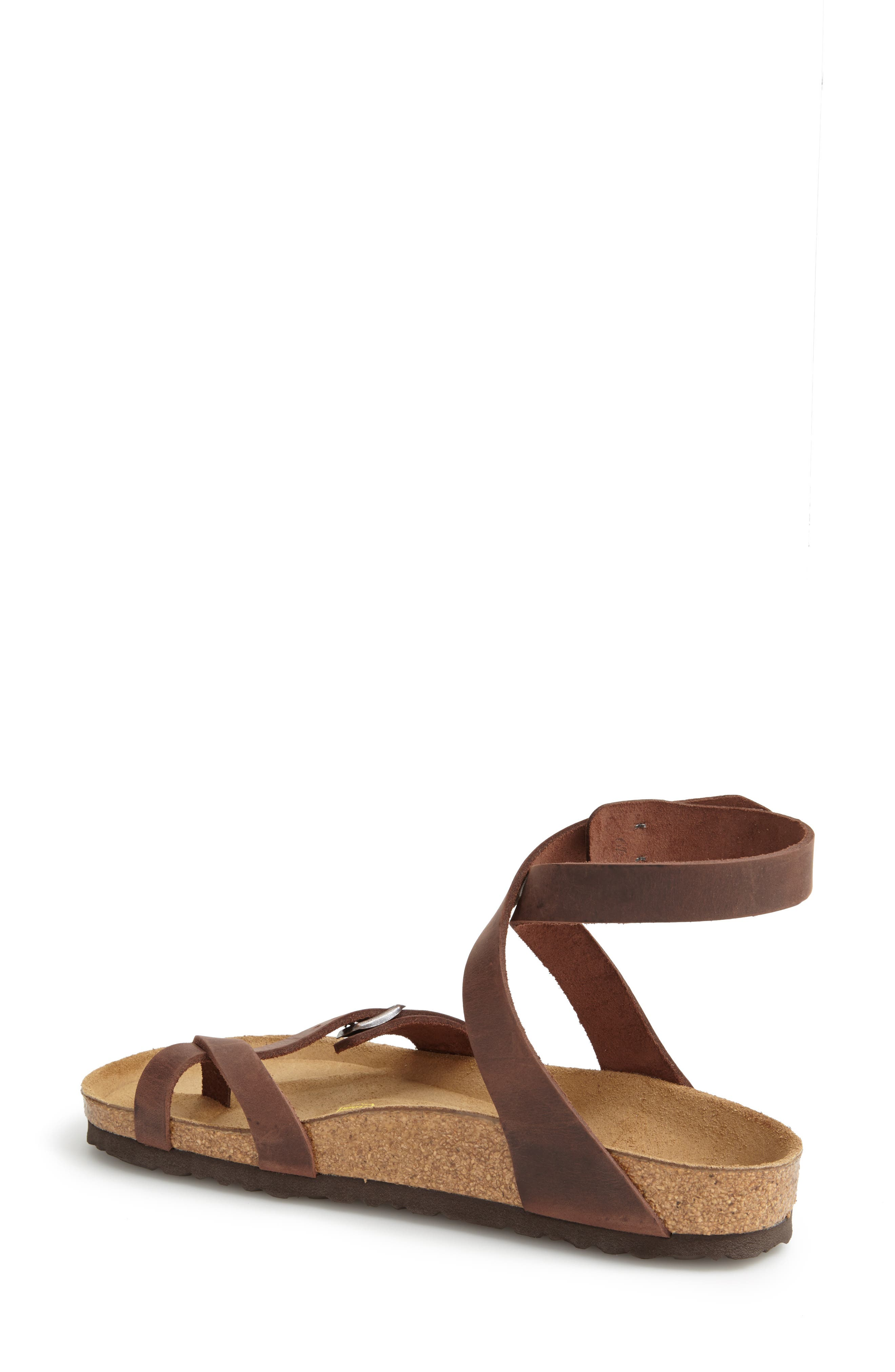 'Yara' Sandal,                             Main thumbnail 1, color,                             YARA HABANA OILED LEATHER