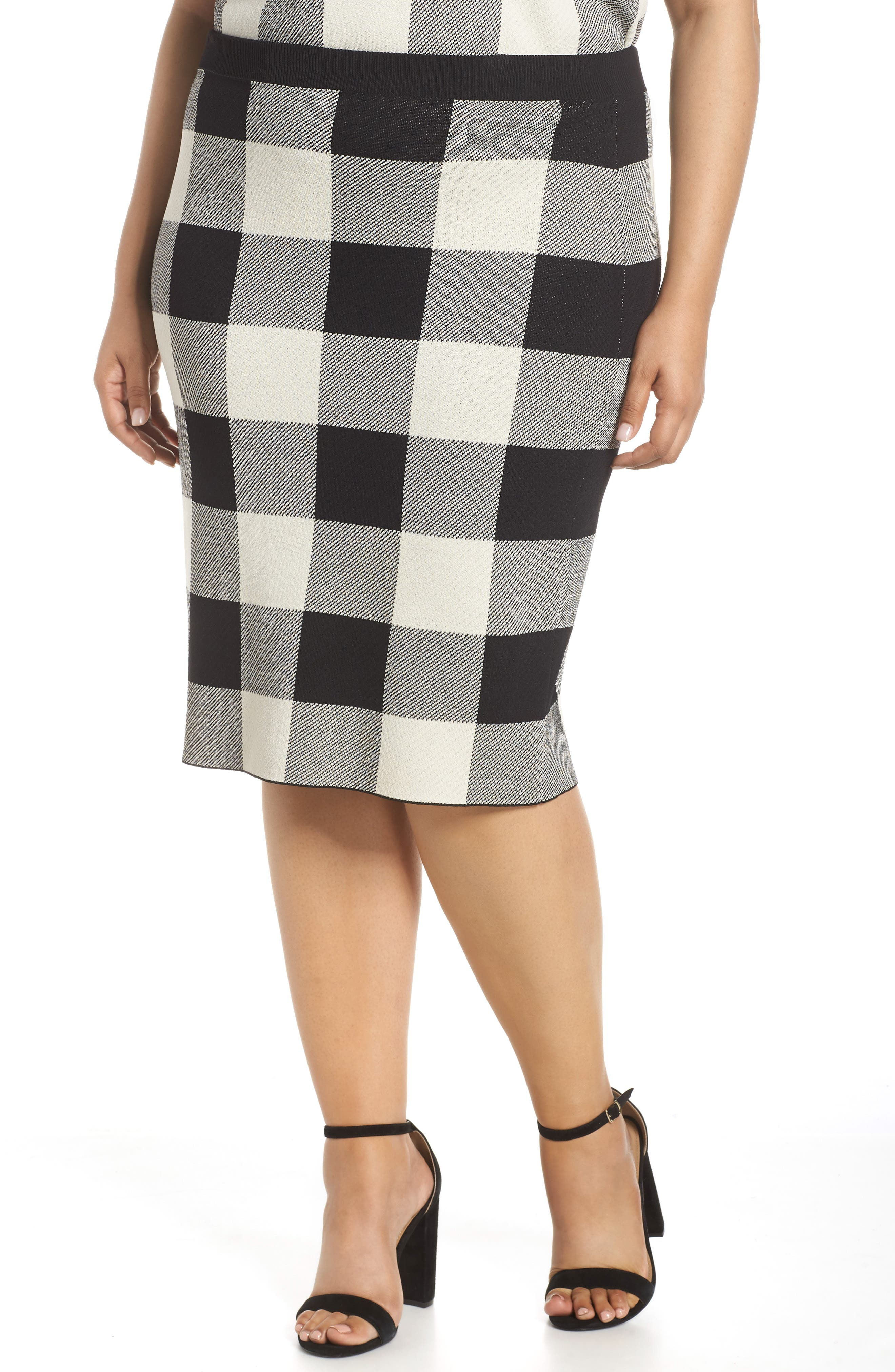 RACHEL RACHEL ROY,                             Raj Sweater Skirt,                             Main thumbnail 1, color,                             BLACK/CREAM