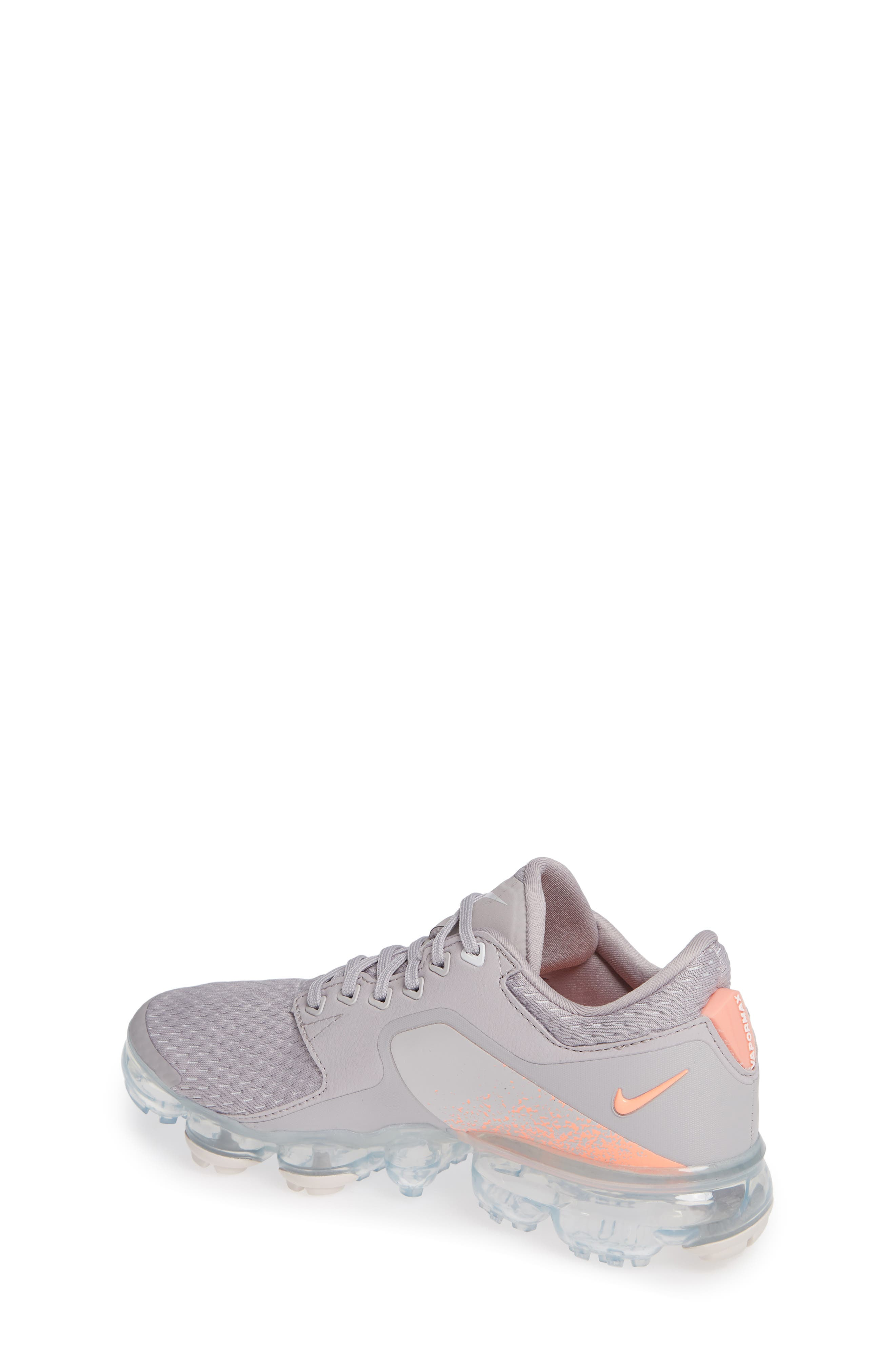Air VaporMax GS Running Shoe,                             Alternate thumbnail 2, color,                             ATMOSPHERE GREY/ WHITE