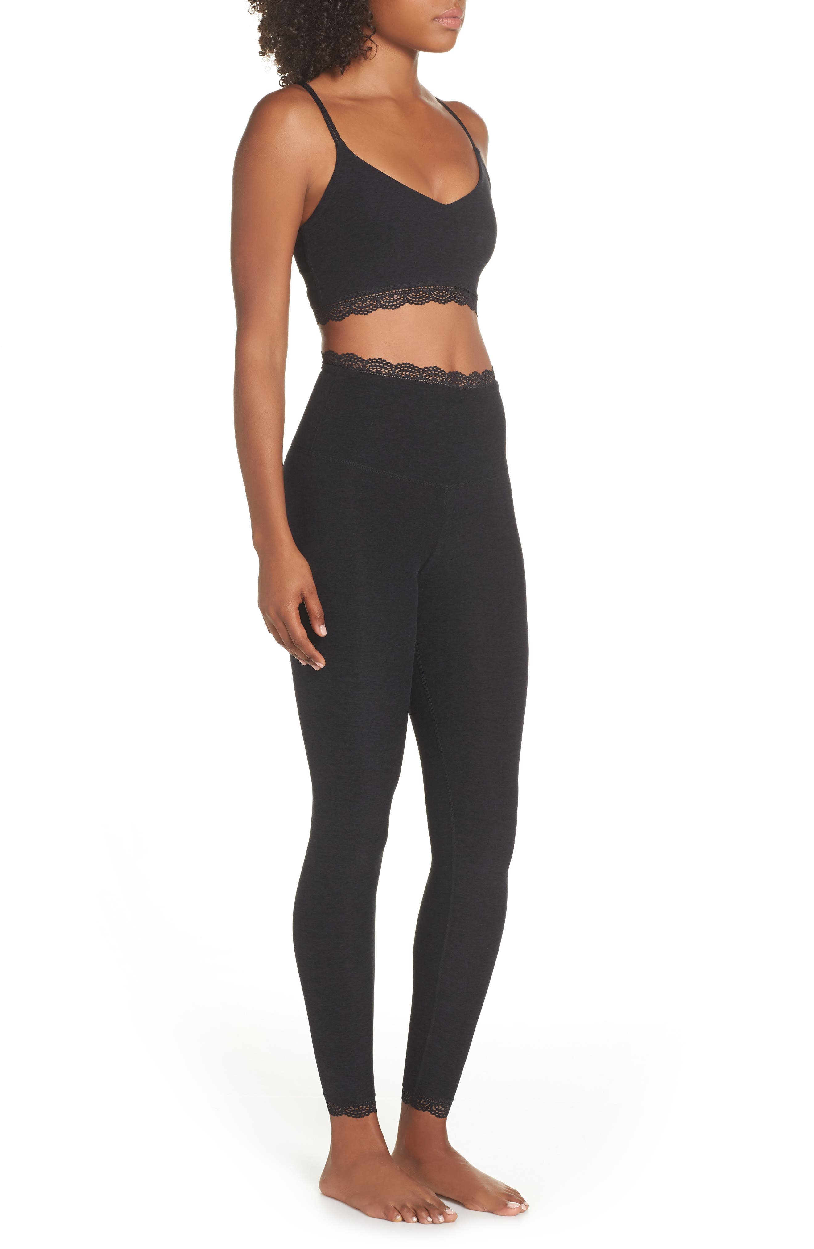 BEYOND YOGA,                             All For Lace Leggings,                             Alternate thumbnail 10, color,                             003