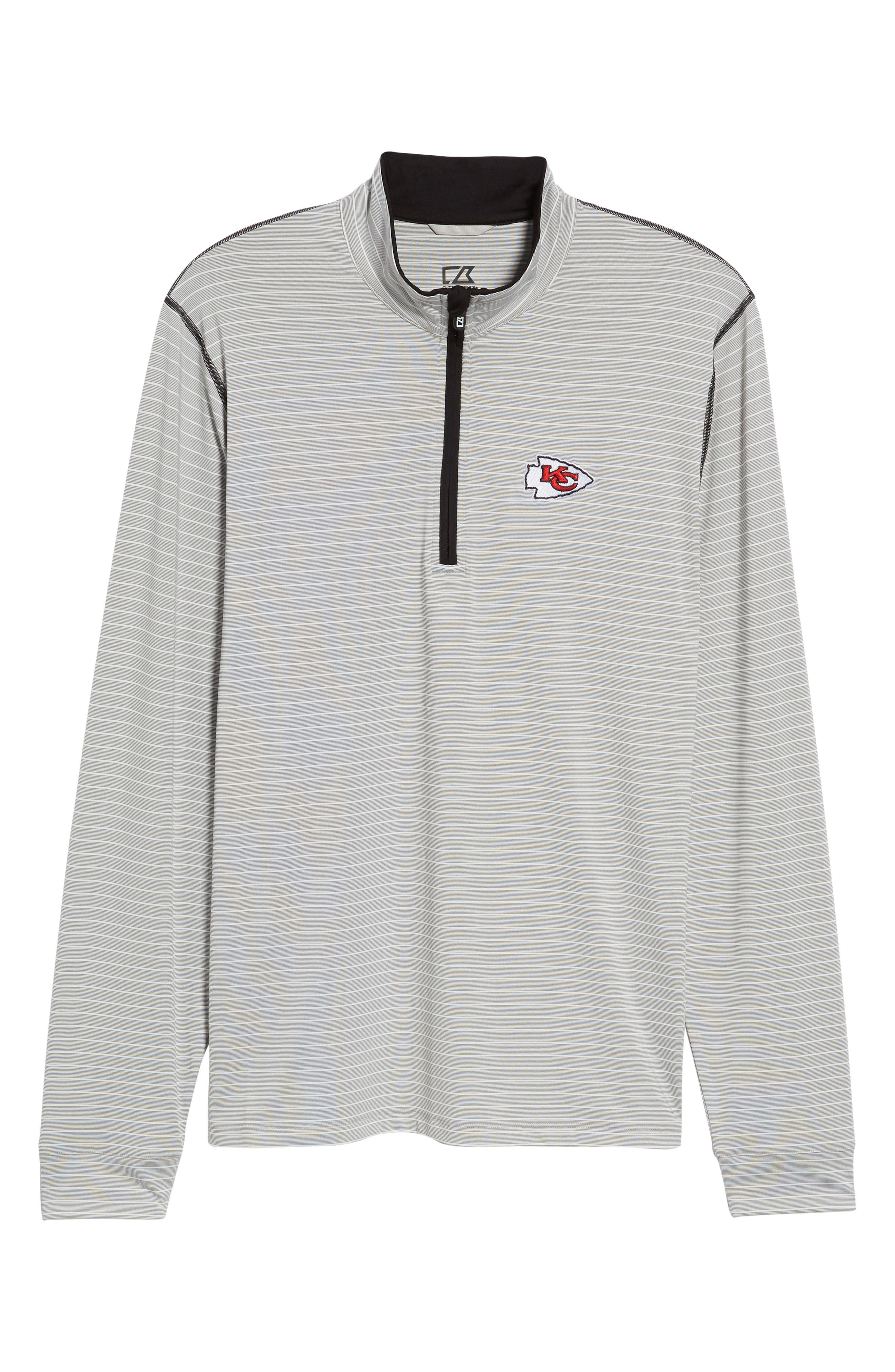 Meridian - Kansas City Chiefs Regular Fit Half Zip Pullover,                             Alternate thumbnail 6, color,                             BLACK