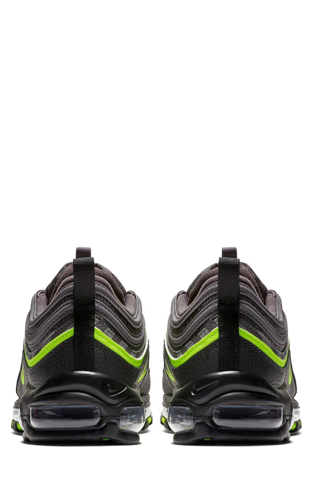 Air Max 97 Sneaker,                             Alternate thumbnail 2, color,                             THUNDER GREY/ LIME/ BLACK