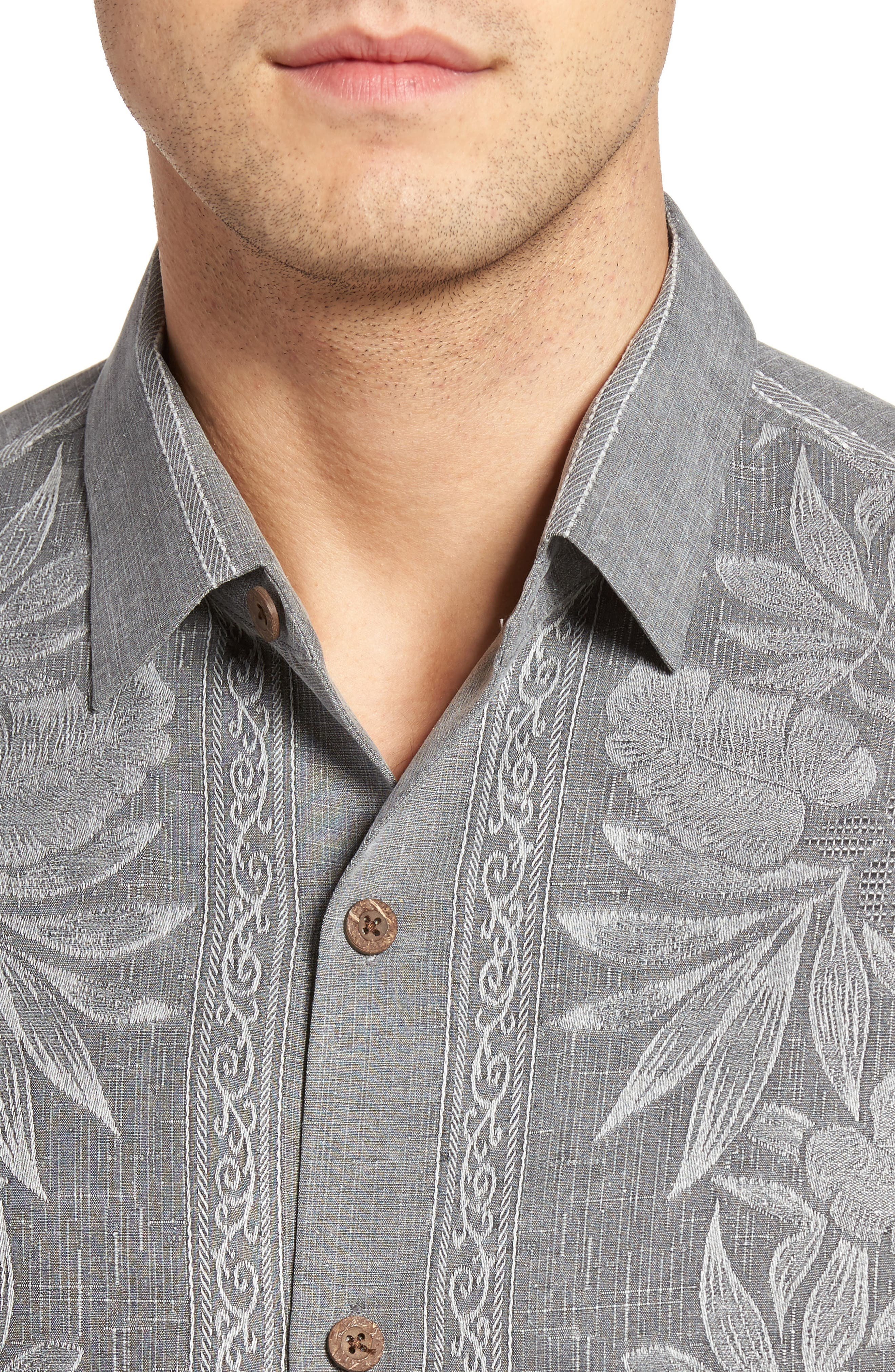 Pacific Floral Silk Camp Shirt,                             Alternate thumbnail 4, color,                             050