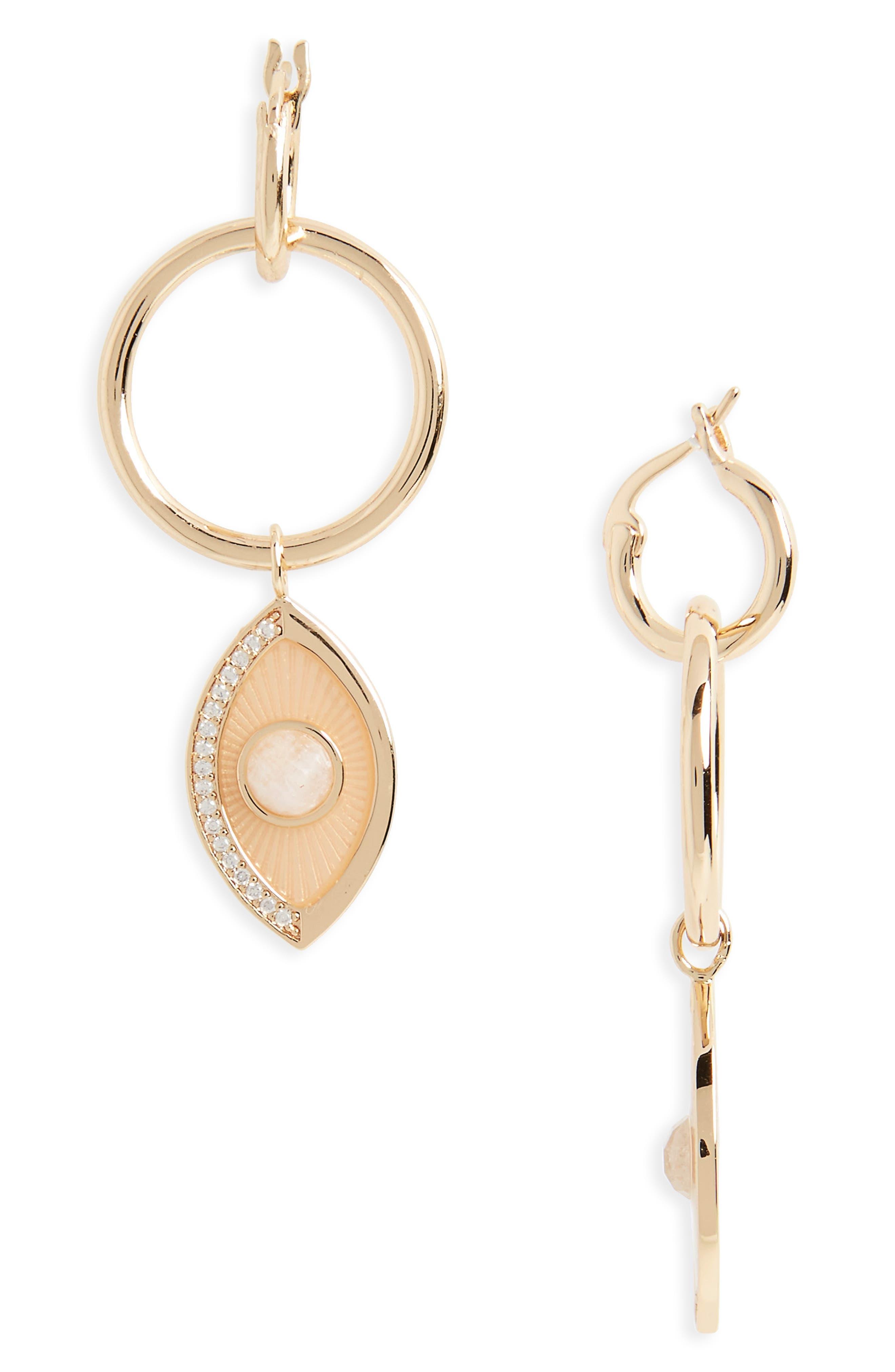 Occhio Hoop Earrings,                             Main thumbnail 1, color,                             100