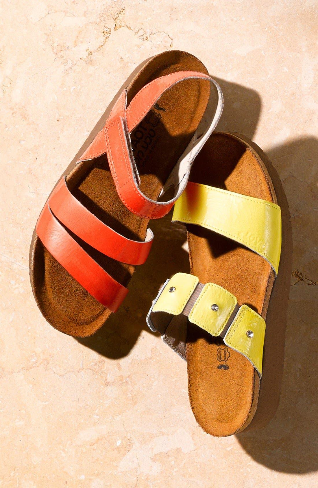 'Kayla' Sandal,                             Alternate thumbnail 7, color,                             OILY OLIVE SUEDE