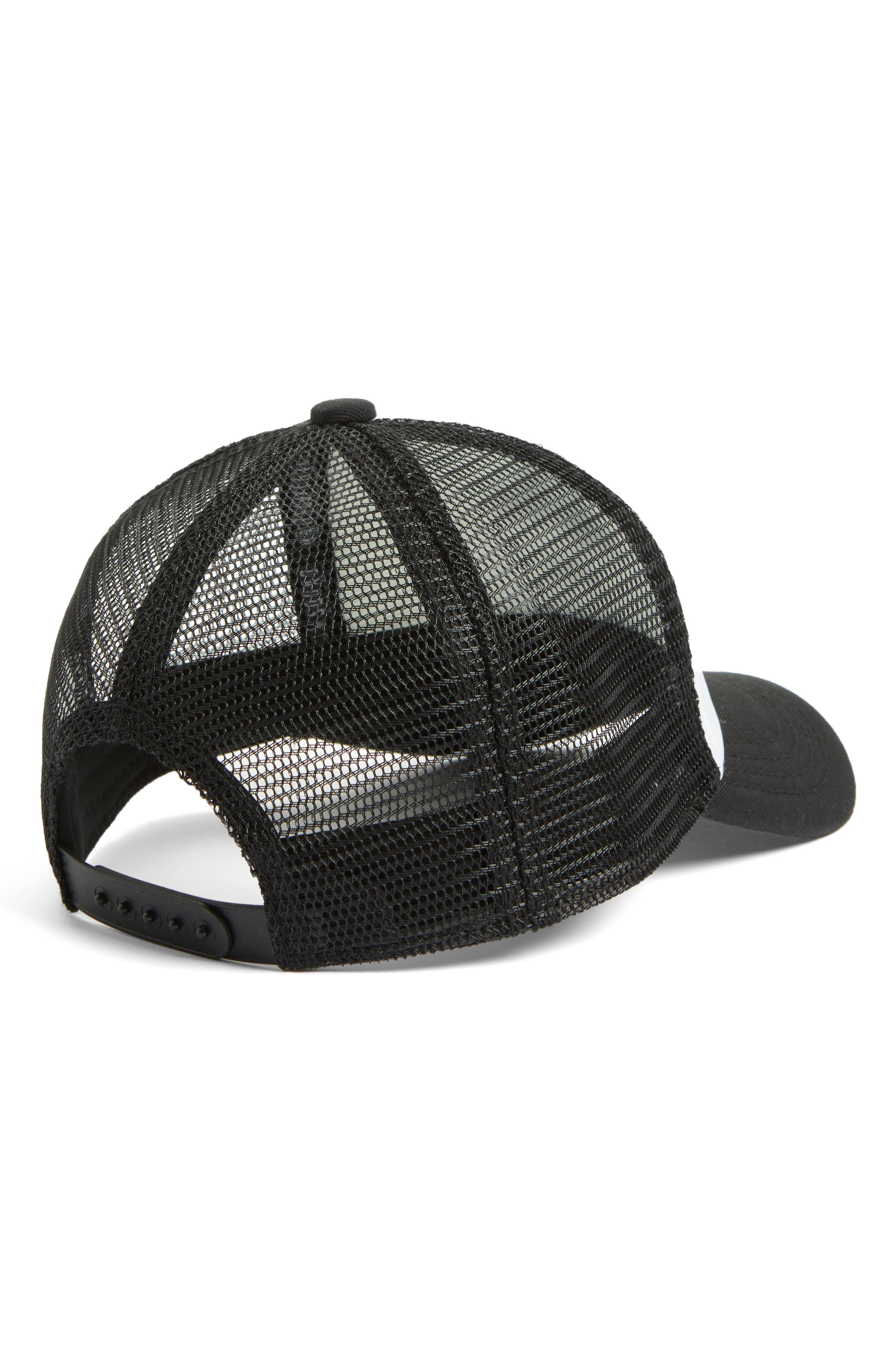 Pirate Trucker Hat,                             Alternate thumbnail 2, color,                             BLACK/ WHITE PIRATE