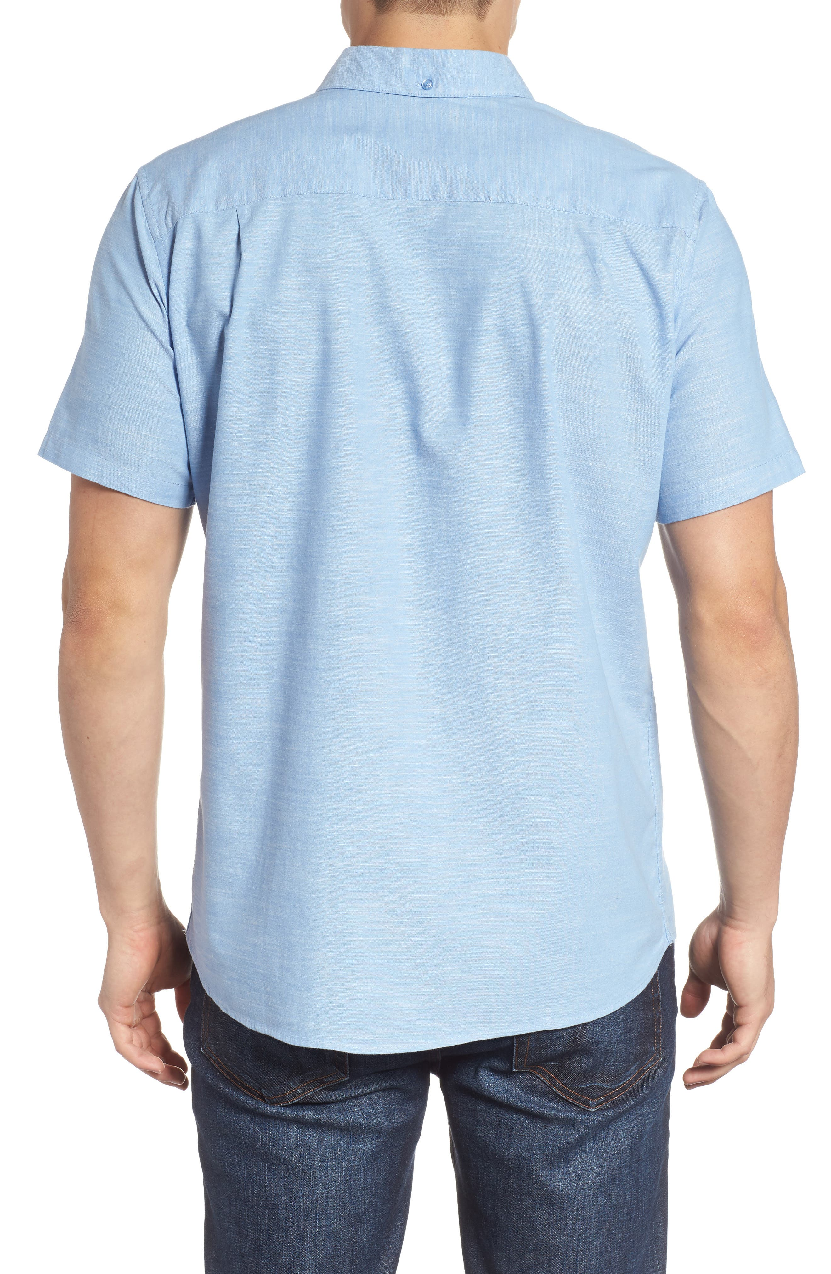One & Only 2.0 Woven Shirt,                             Alternate thumbnail 2, color,                             BLUE OX