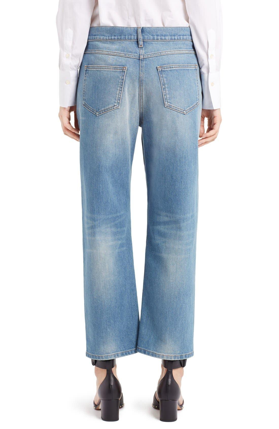 Rockstud Boyfriend Jeans,                             Alternate thumbnail 7, color,                             BLUE