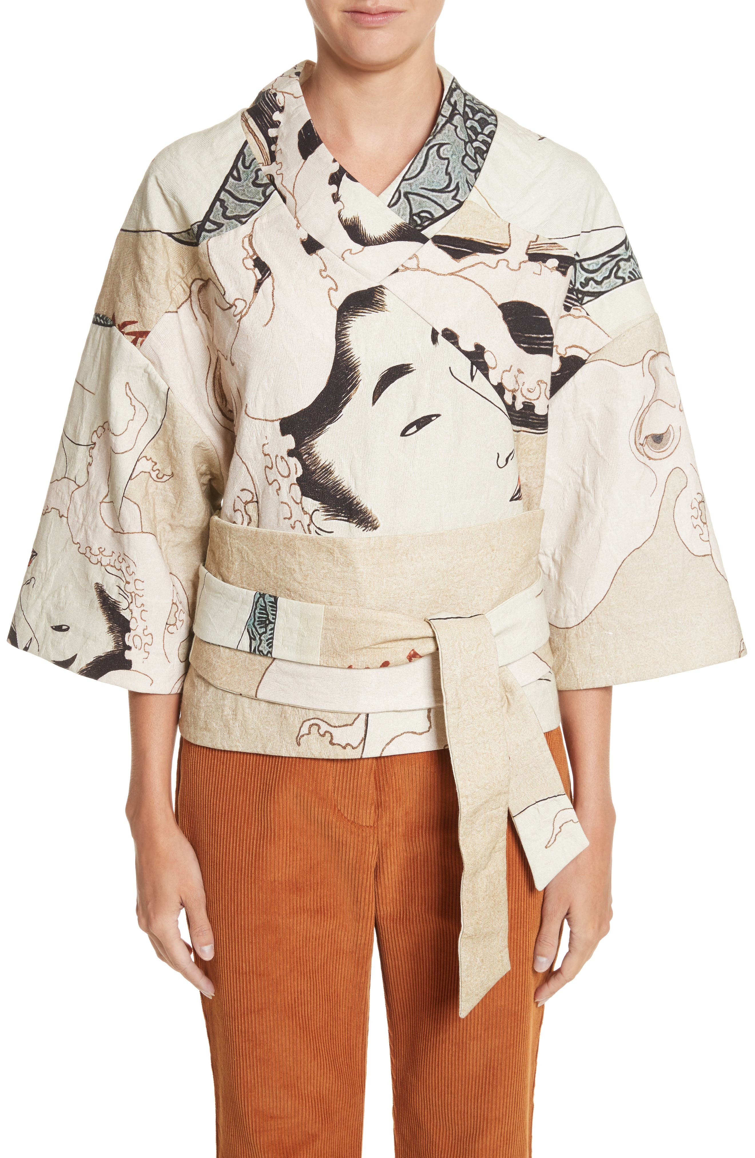 Printed Kimono Bomber Jacket,                             Main thumbnail 1, color,                             250