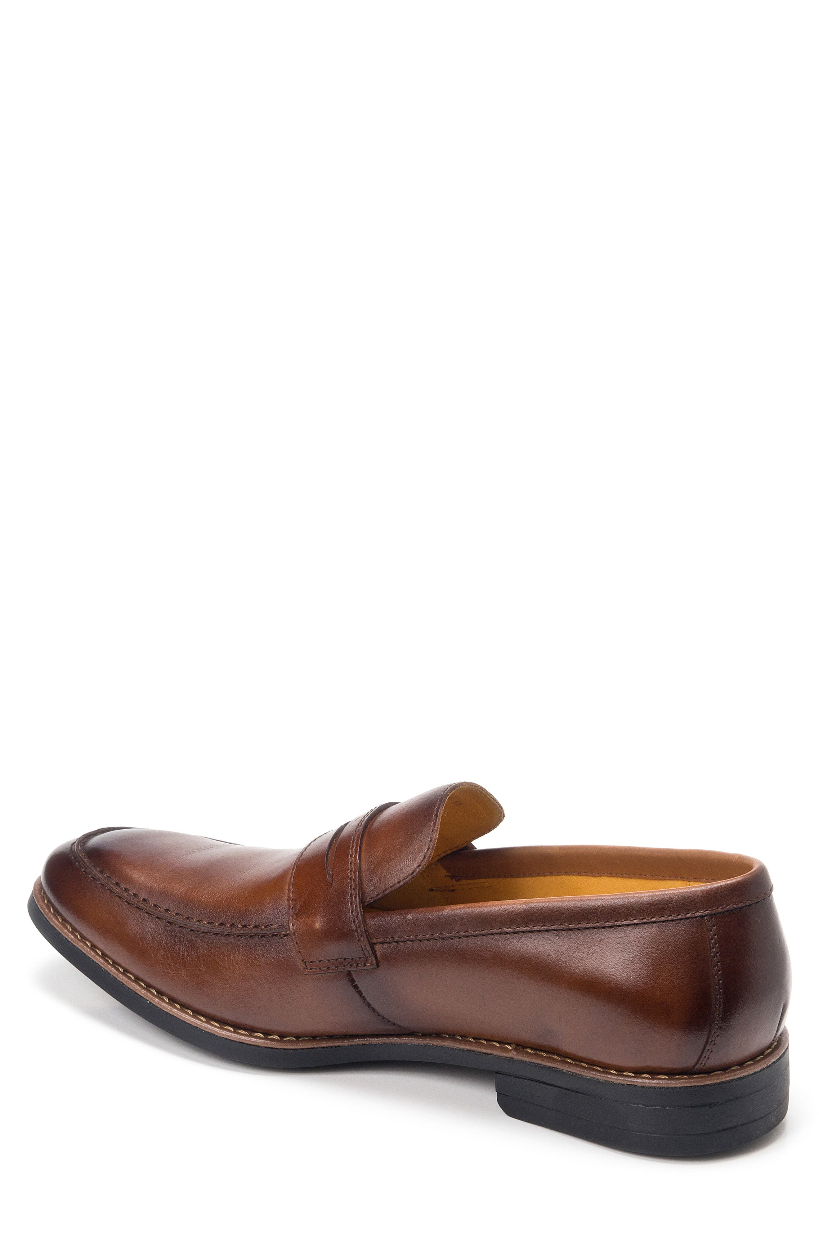 Mundo Penny Loafer,                             Alternate thumbnail 2, color,                             BROWN LEATHER