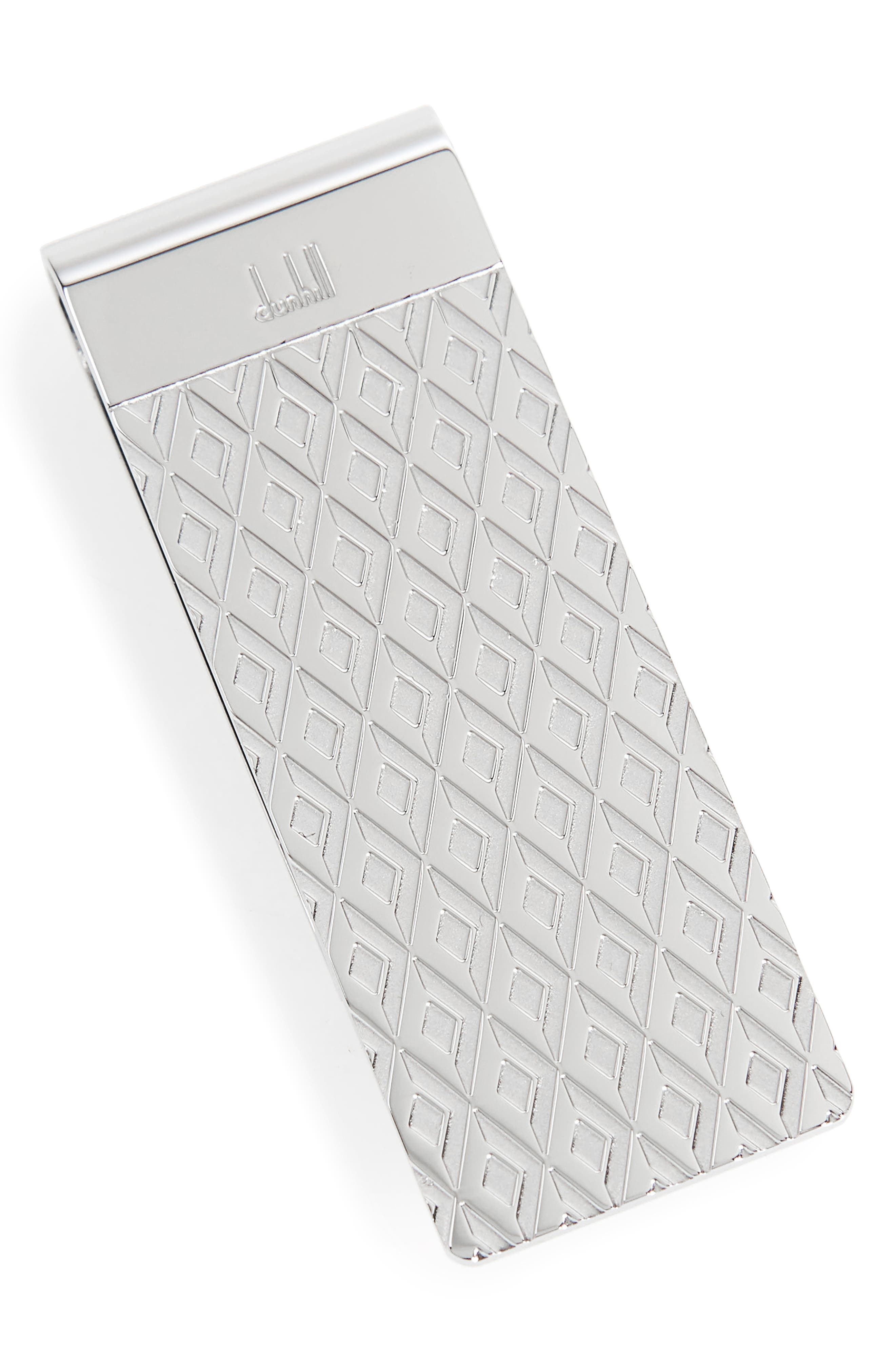 Engine Turn Money Clip,                         Main,                         color, SILVER