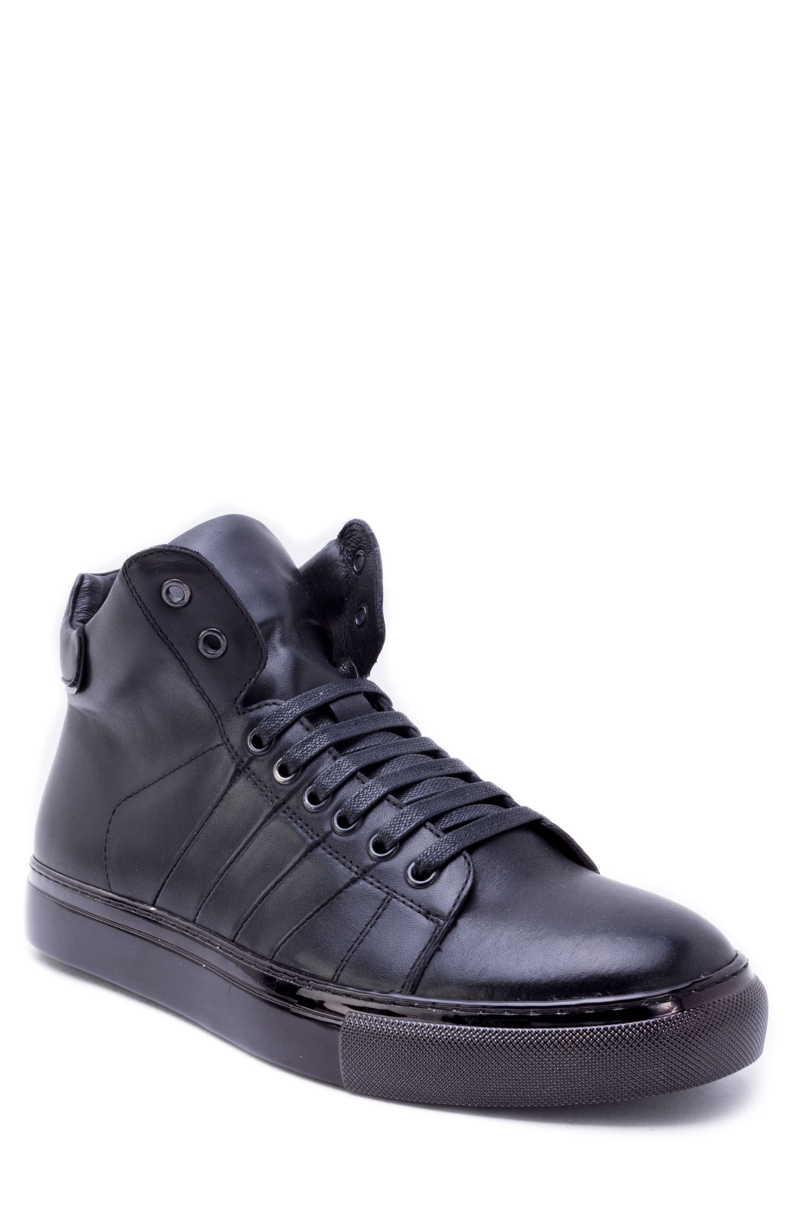 Crosby Sneaker,                         Main,                         color, BLACK LEATHER