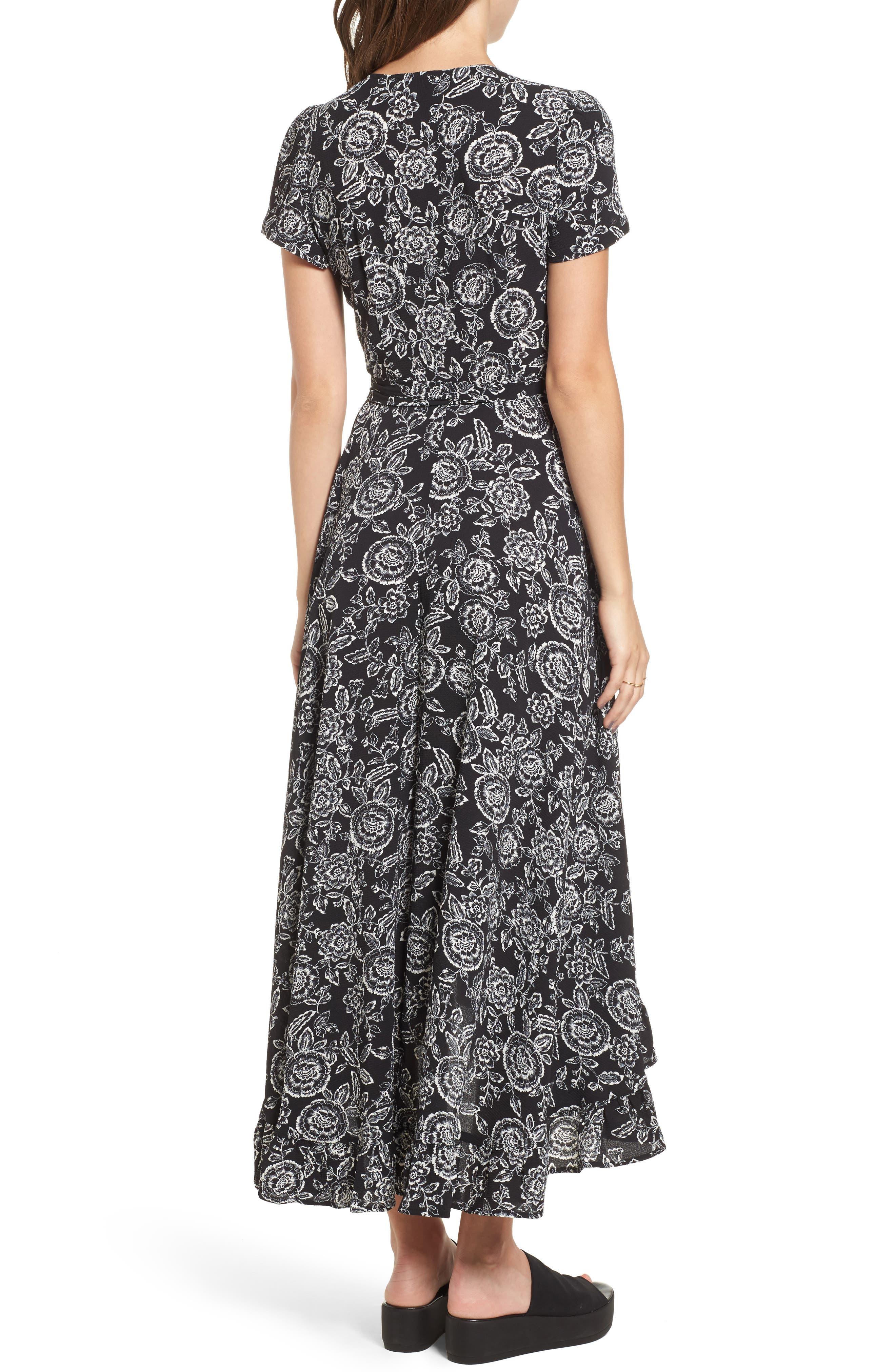 Arabella Wrap Dress,                             Alternate thumbnail 2, color,                             001