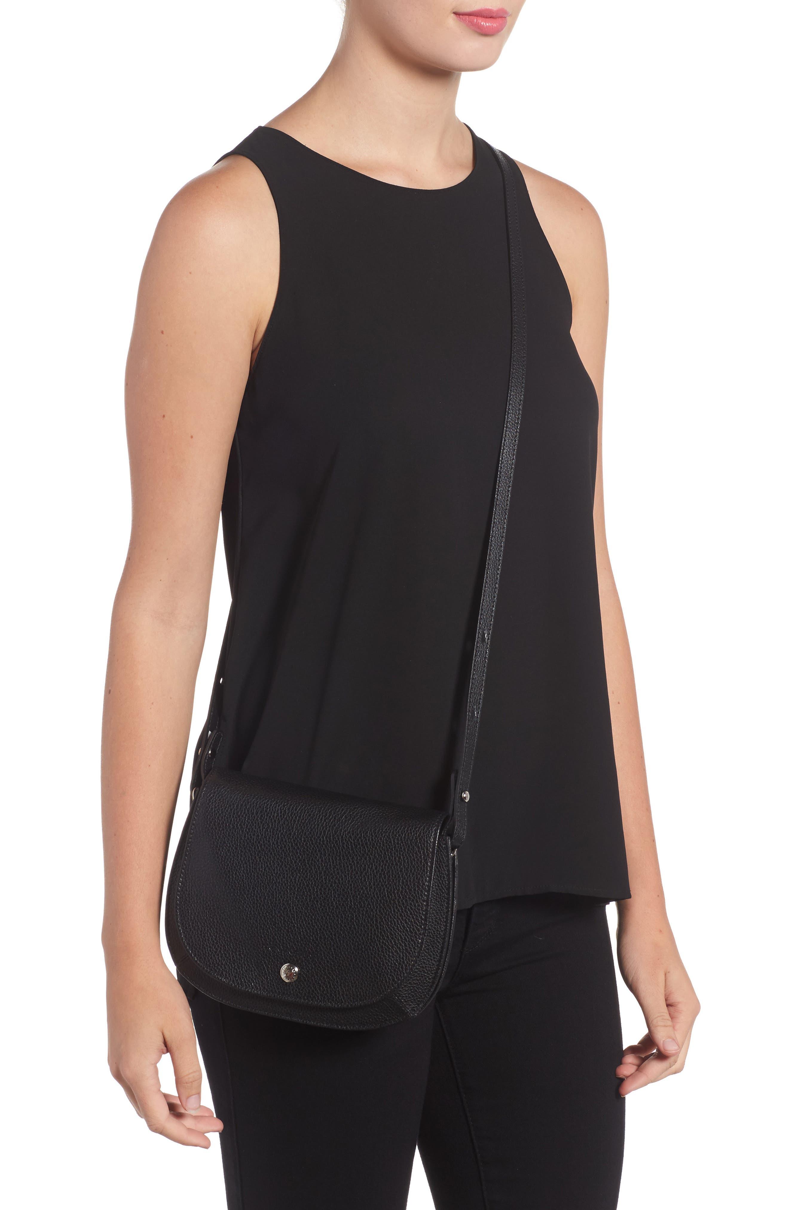Small Le Foulonne Leather Crossbody Bag,                             Alternate thumbnail 2, color,                             BLACK