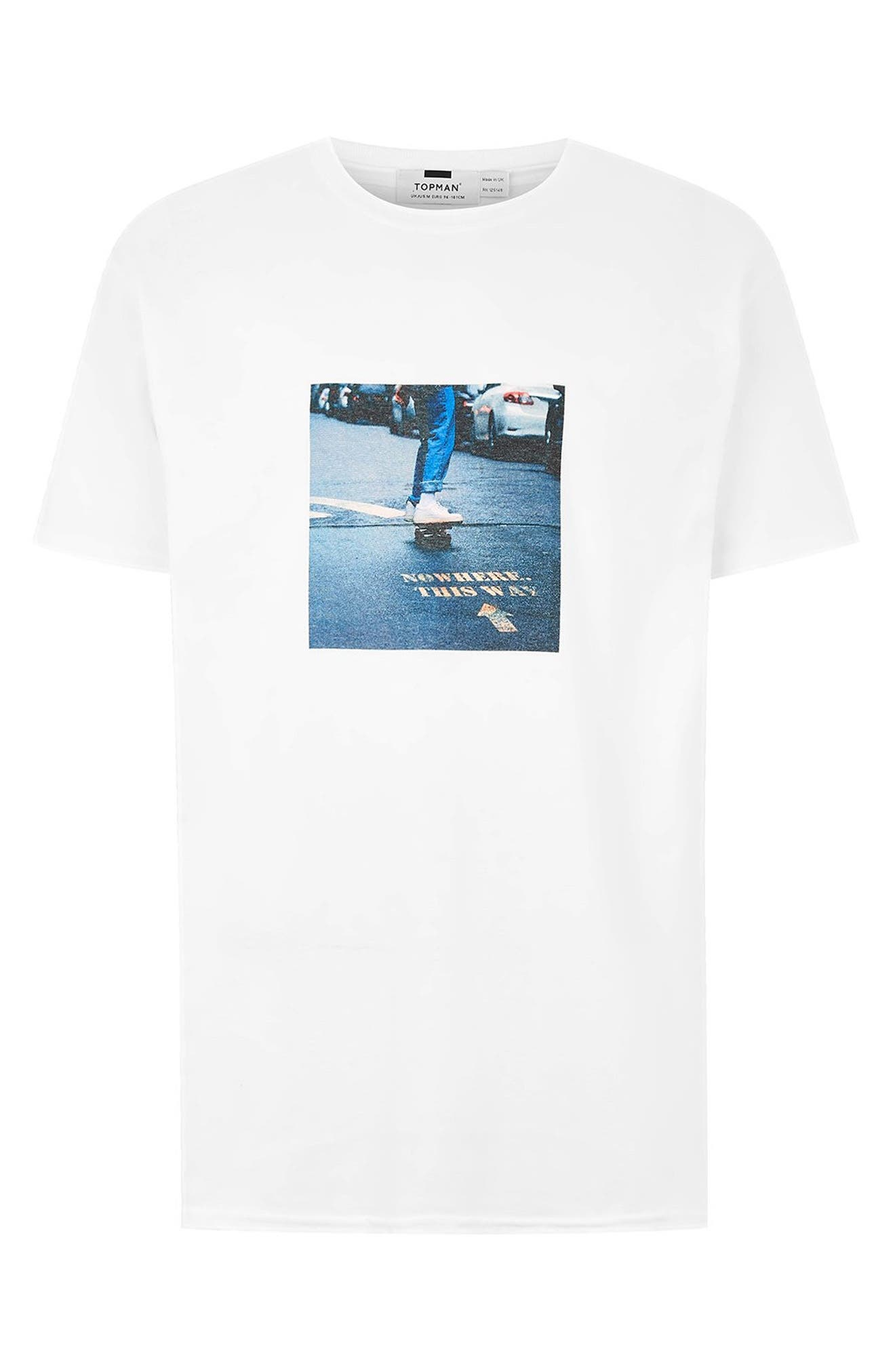 Skater Classic T-Shirt,                             Alternate thumbnail 4, color,                             WHITE MULTI
