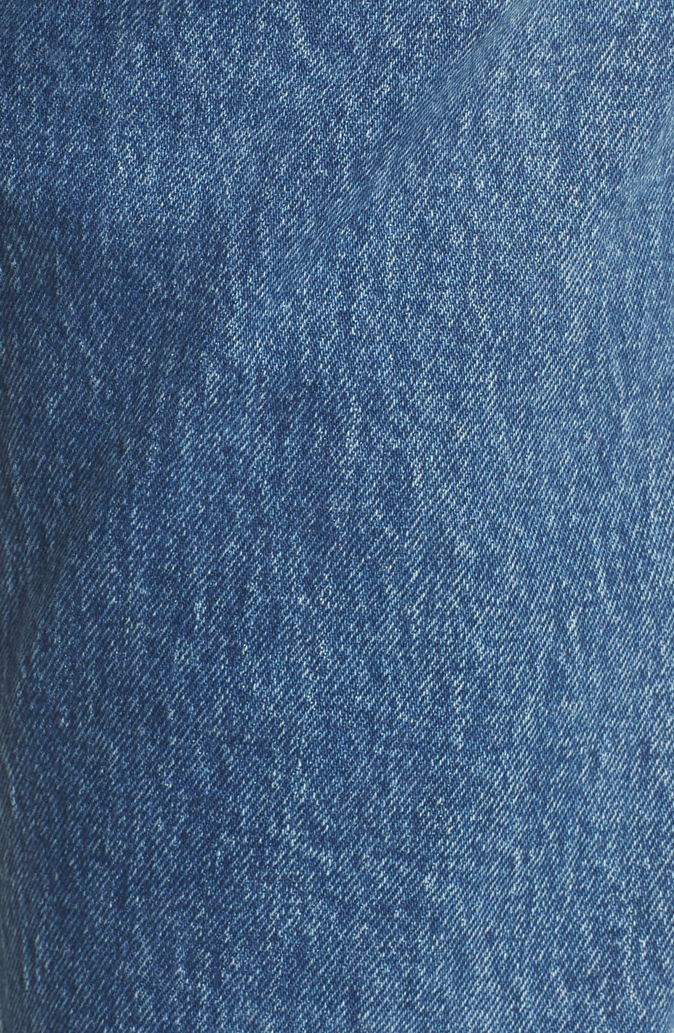 Wedgie Raw Hem High Waist Straight Leg Jeans,                             Alternate thumbnail 6, color,                             LOVE TRIANGLE