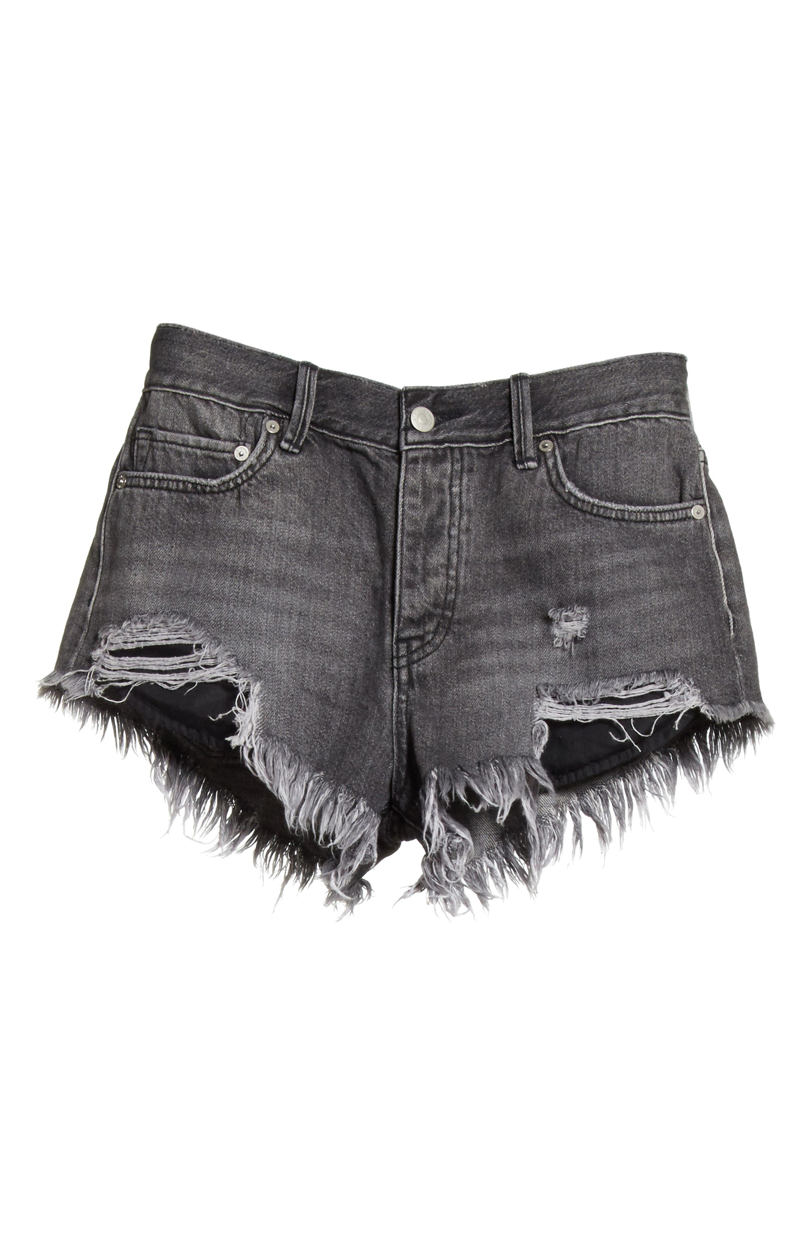 We the Free by Free People Loving Good Vibrations Cutoff Denim Shorts,                             Alternate thumbnail 6, color,                             001