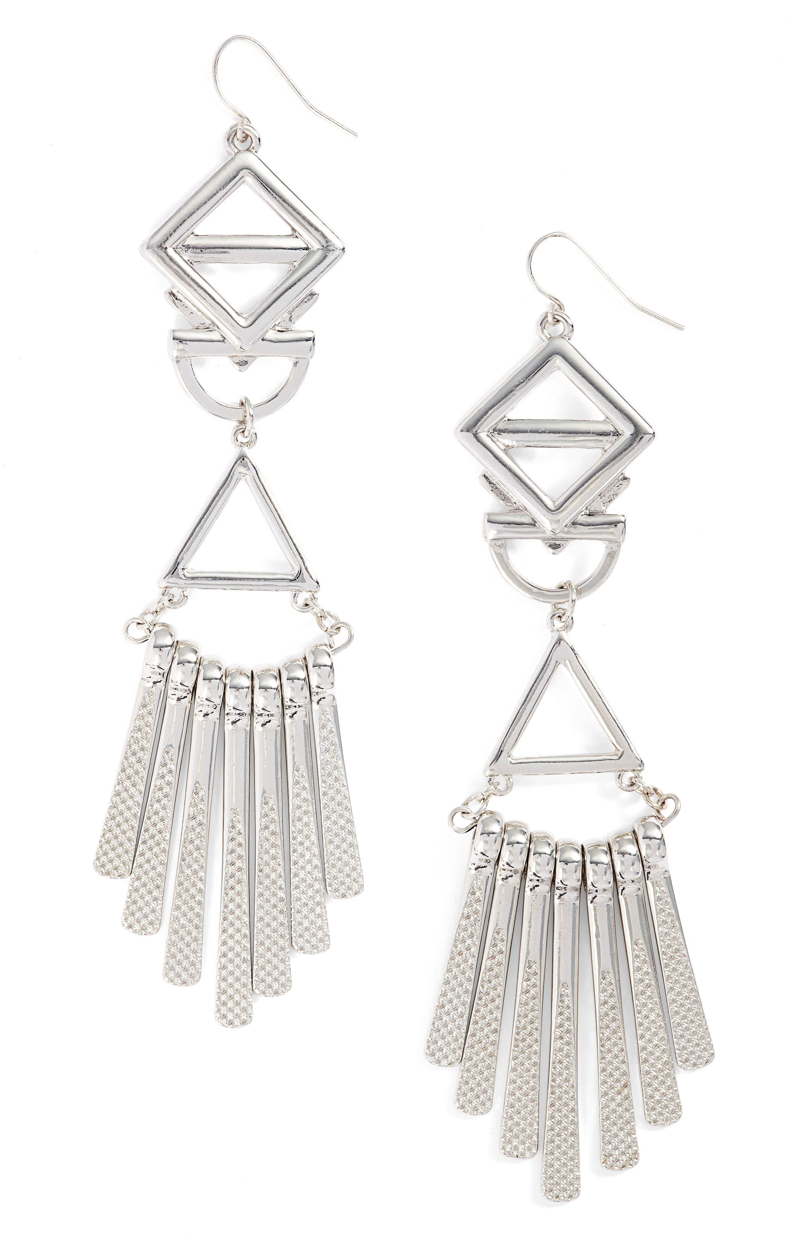 Geometric Drop Earrings,                         Main,                         color, 040