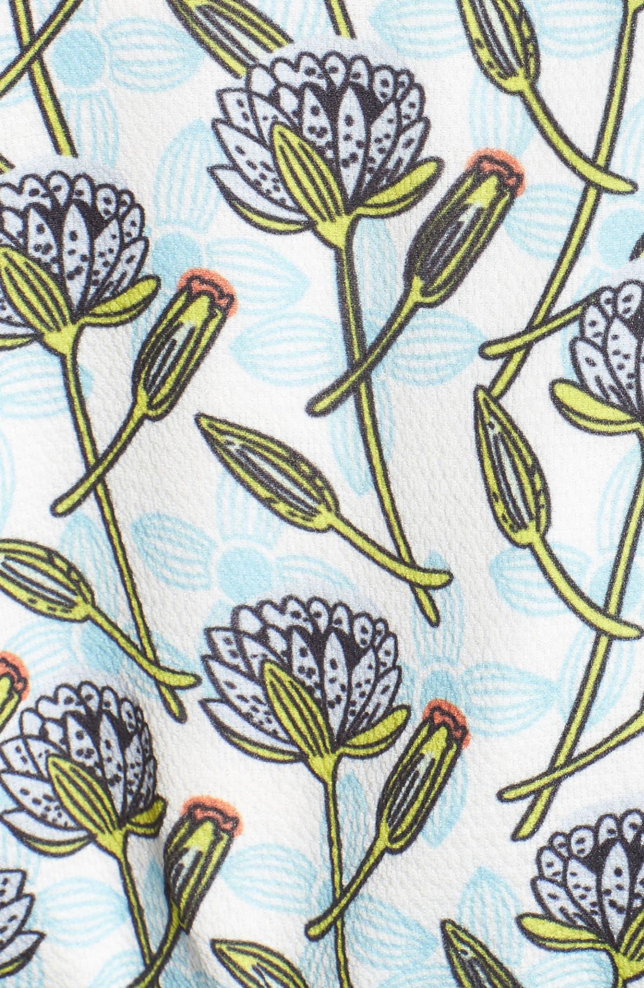 Lexie Cold Shoulder Wrap Dress,                             Alternate thumbnail 5, color,                             400