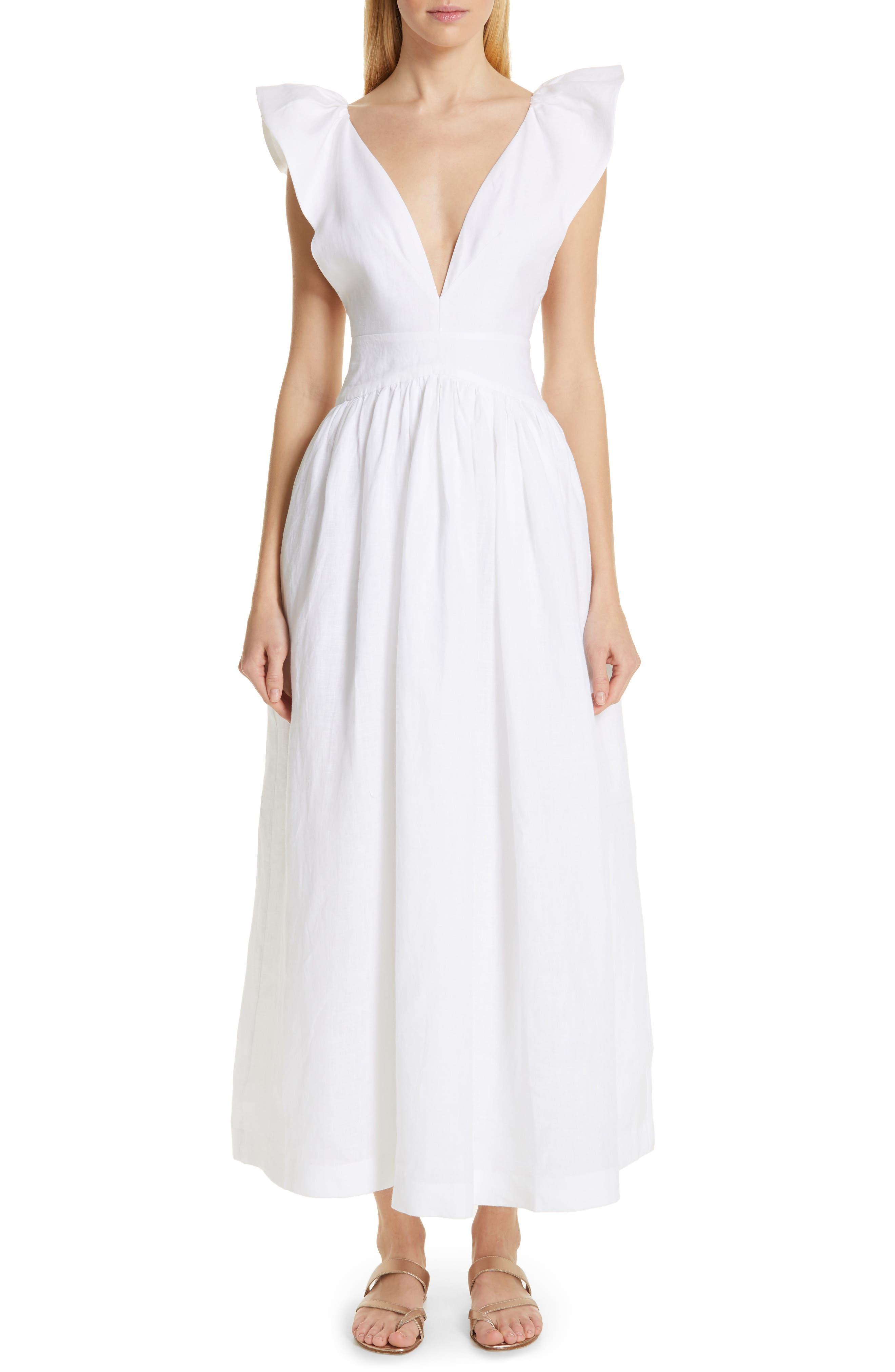 KALITA Persephone Linen Maxi Dress in Spindrift
