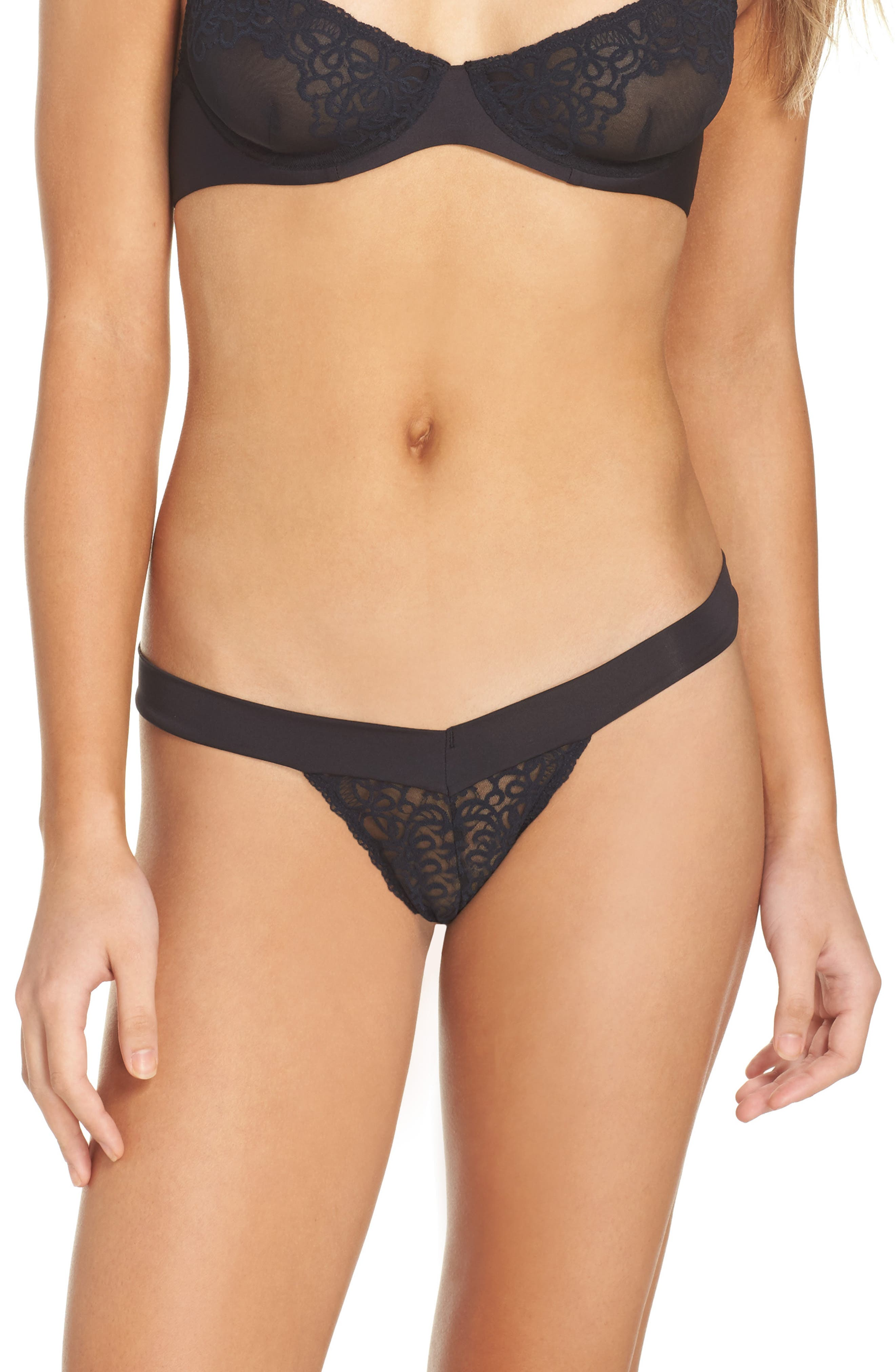 Intimately FP 'Wishing Well' Thong,                             Main thumbnail 1, color,                             001