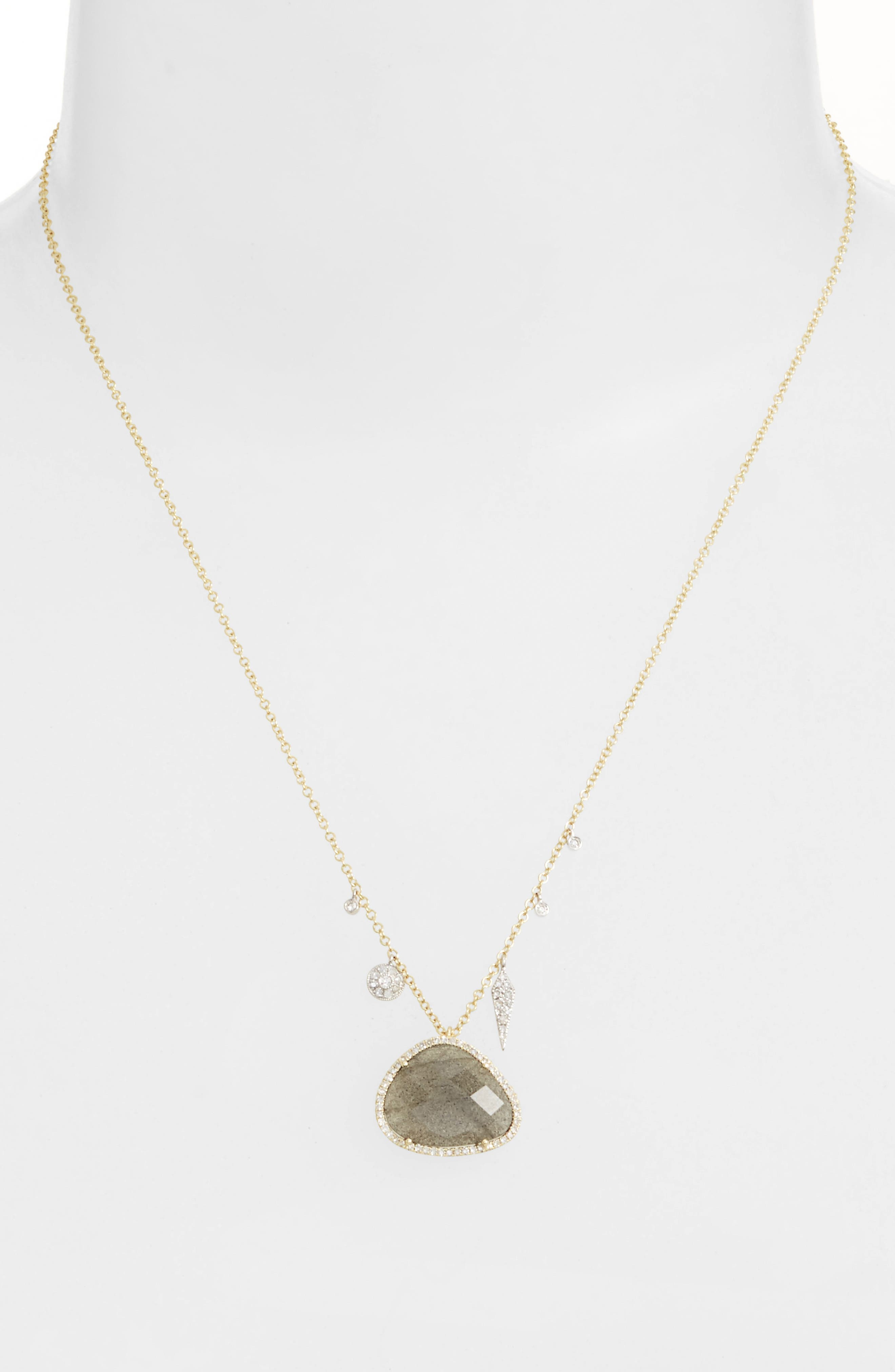 Jewelry Diamond & Semiprecious Stone Pendant Necklace,                             Alternate thumbnail 2, color,                             710