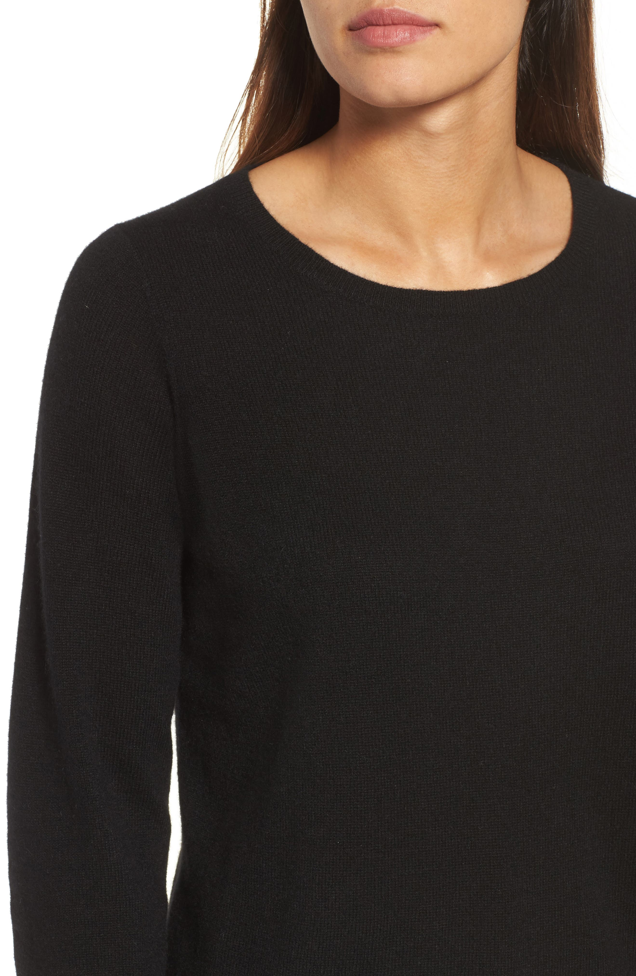 Cashmere Sweater,                             Alternate thumbnail 4, color,                             001