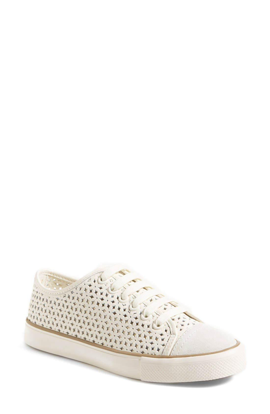 'Daisy' Perforated Sneaker,                         Main,                         color, 104