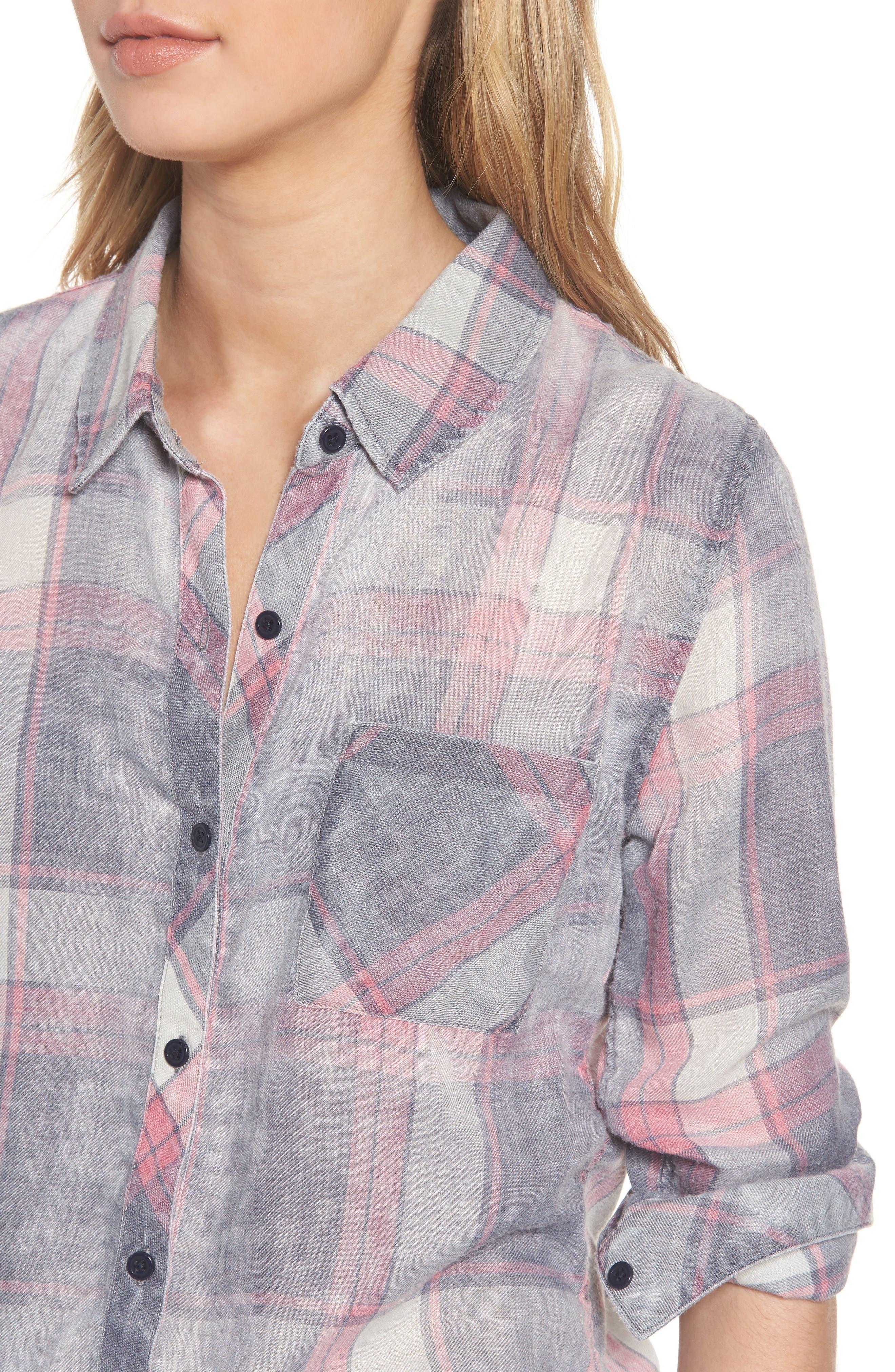 Hunter Plaid Shirt,                             Alternate thumbnail 499, color,