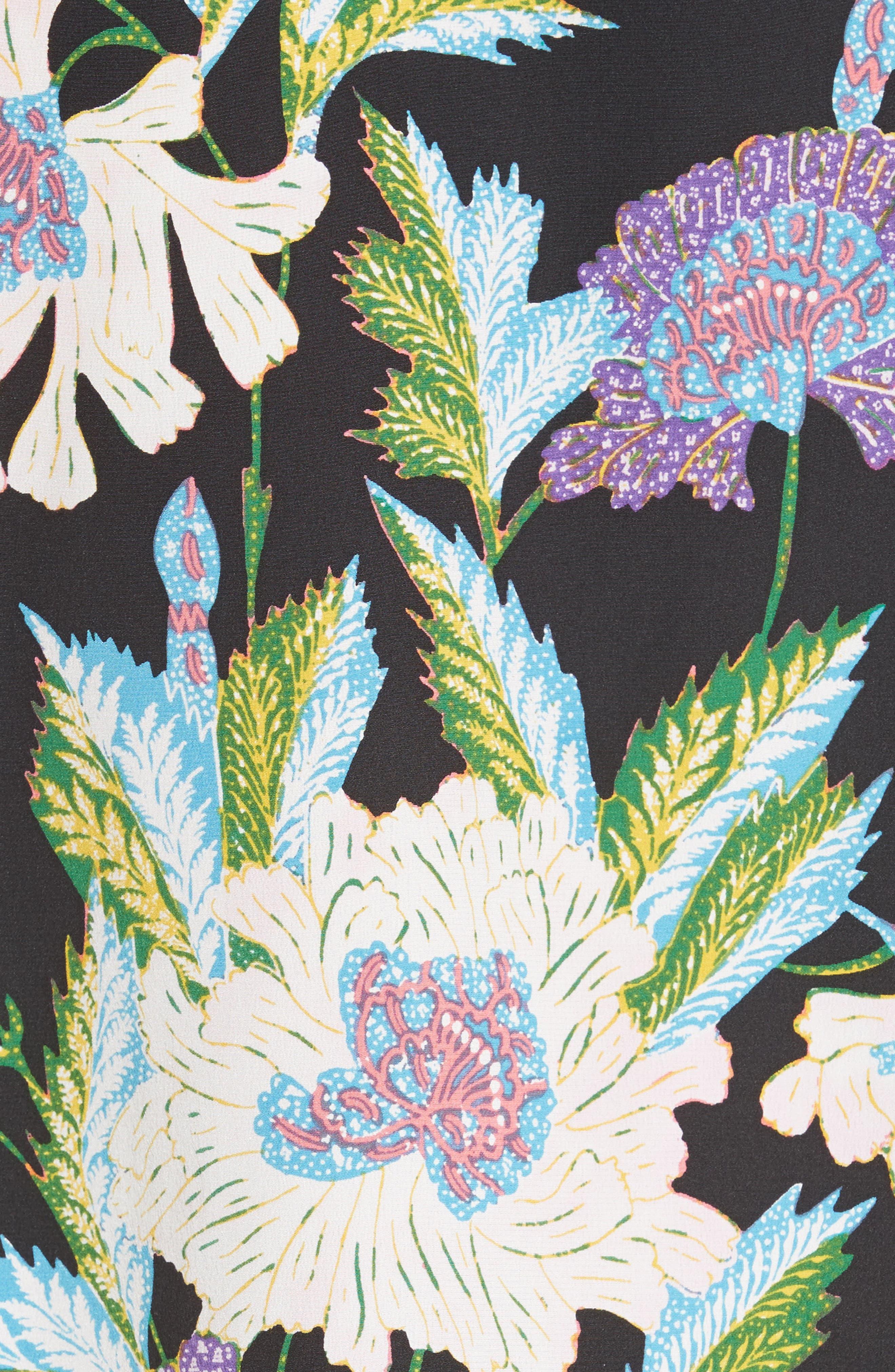 Print Tie Waist Crossover Blouse,                             Alternate thumbnail 5, color,                             499