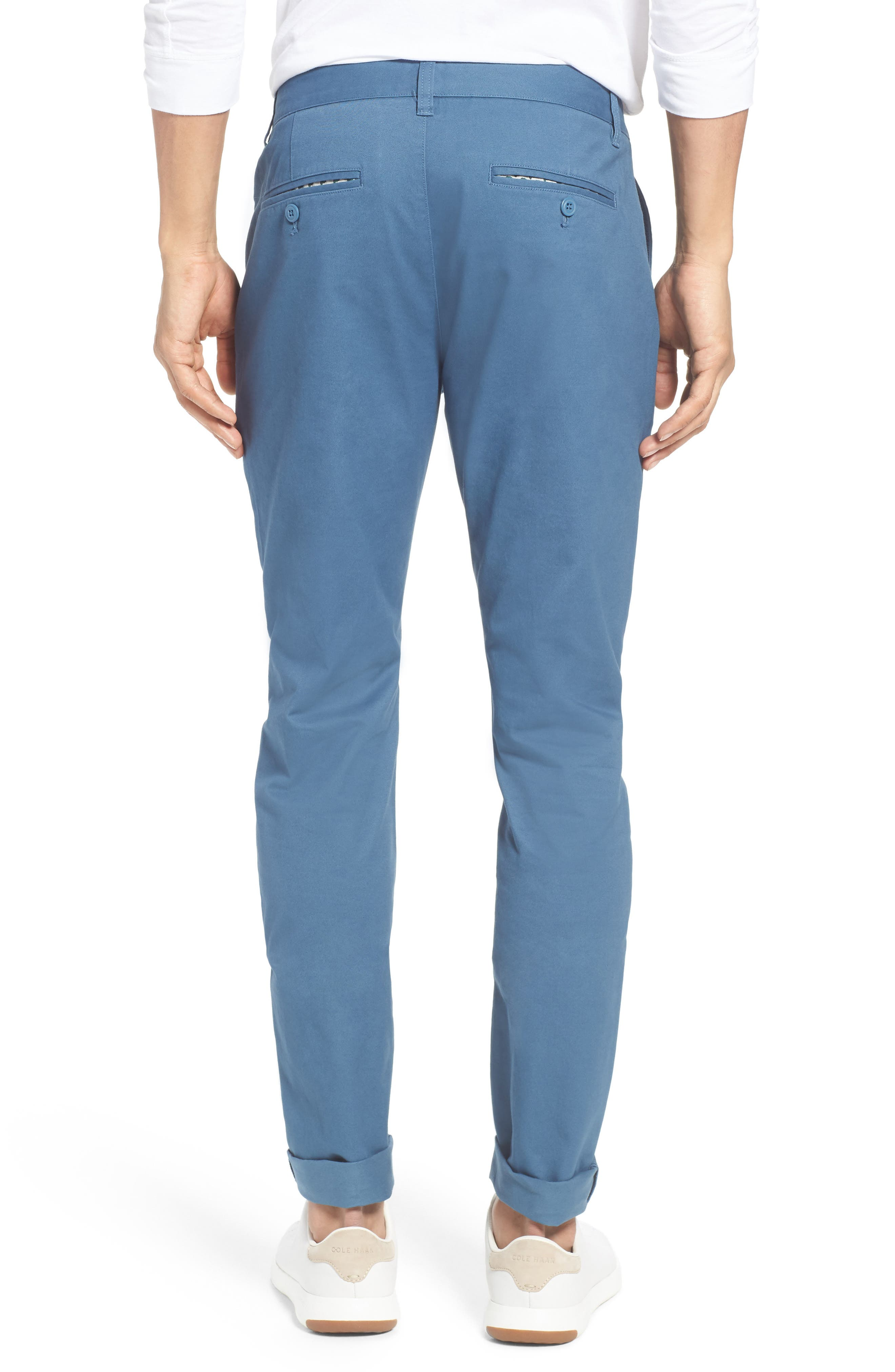 Tailored Fit Washed Stretch Cotton Chinos,                             Alternate thumbnail 68, color,
