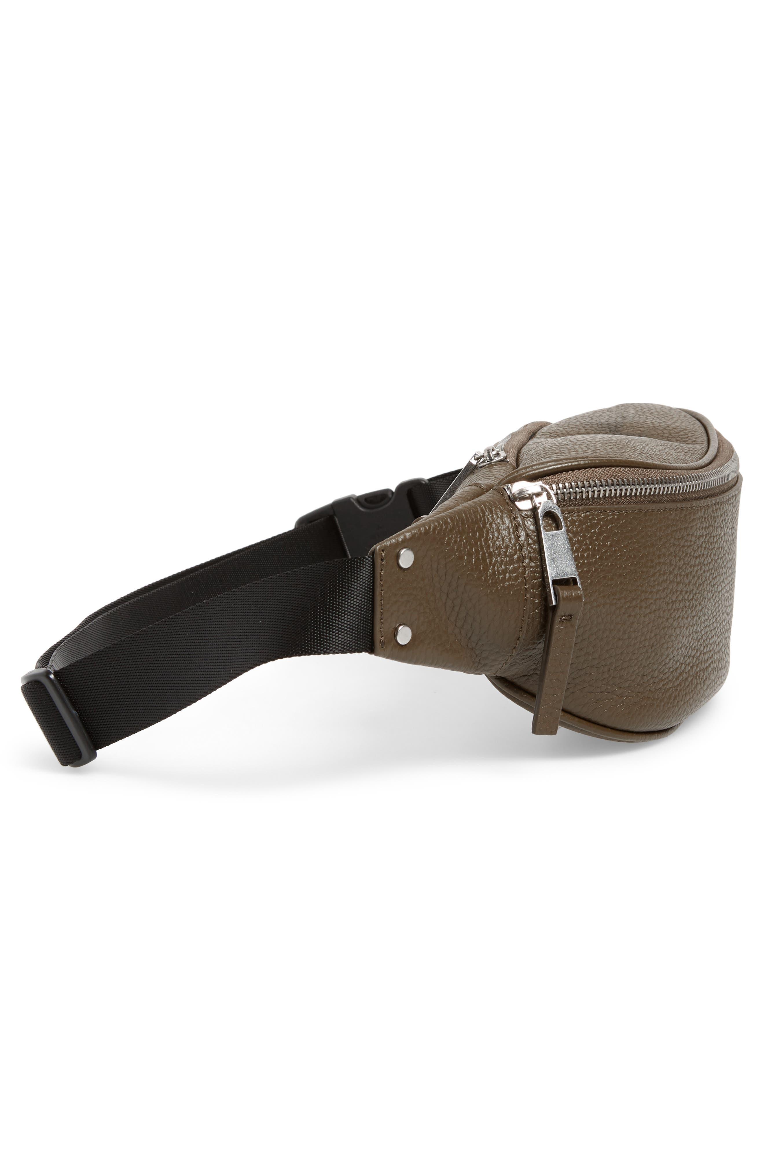 Mason Pebbled Leather Belt Bag,                             Alternate thumbnail 6, color,                             OLIVE GROVE