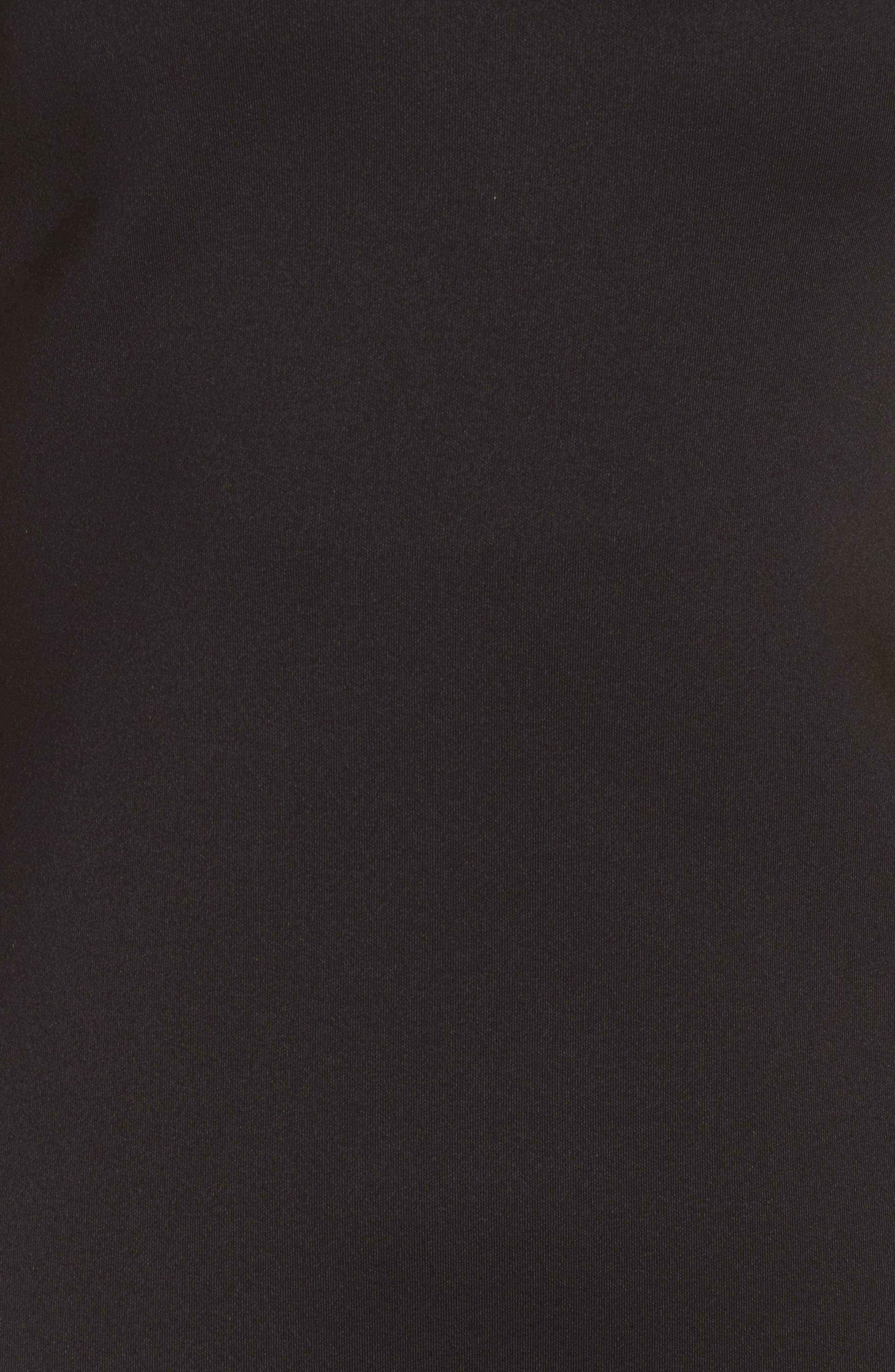 One-Shoulder Sheath Dress,                             Alternate thumbnail 5, color,                             BLACK