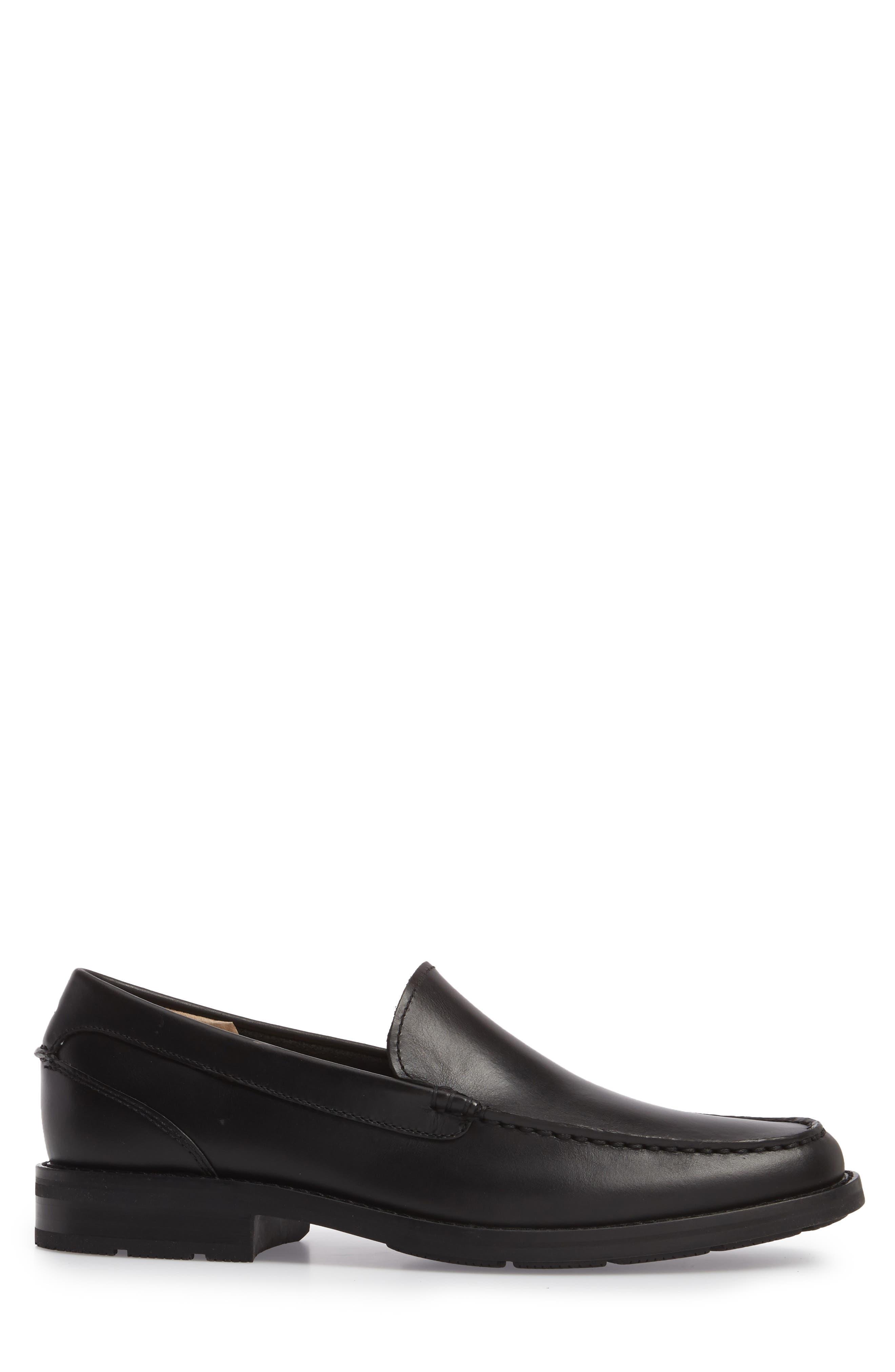 Essex Venetian Loafer,                             Alternate thumbnail 3, color,                             BLACK LEATHER