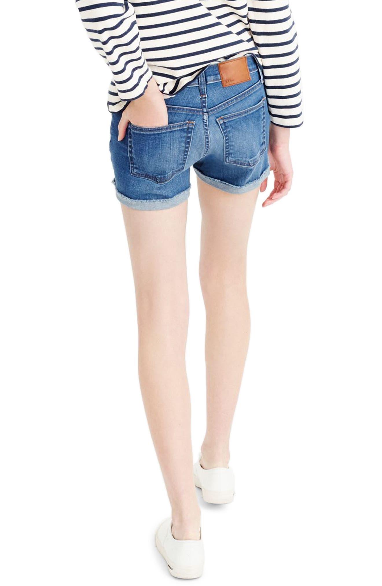 Midrise Denim Shorts,                         Main,                         color, 400