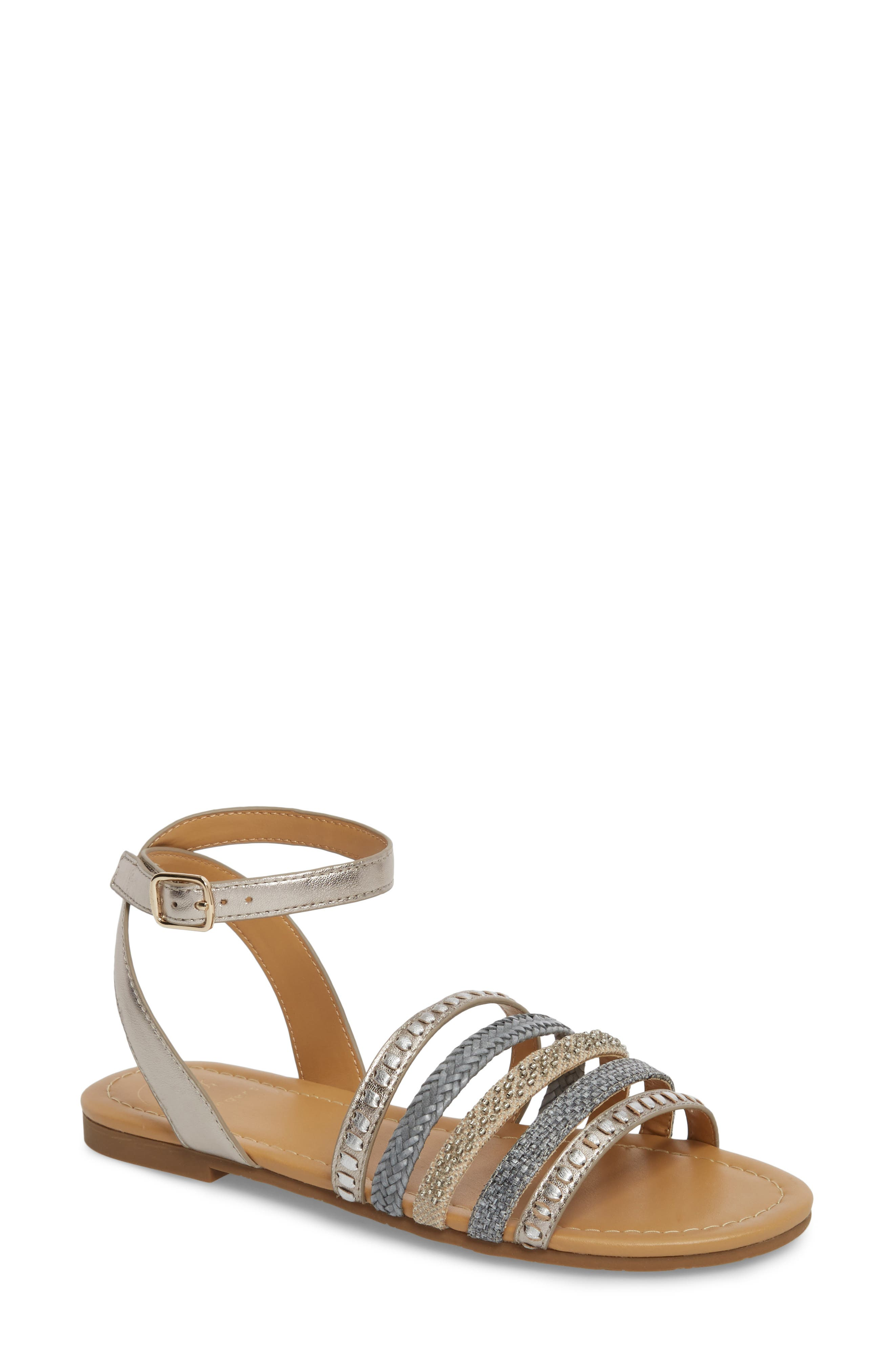 Hannah Braided Embellished Sandal,                             Main thumbnail 1, color,                             040