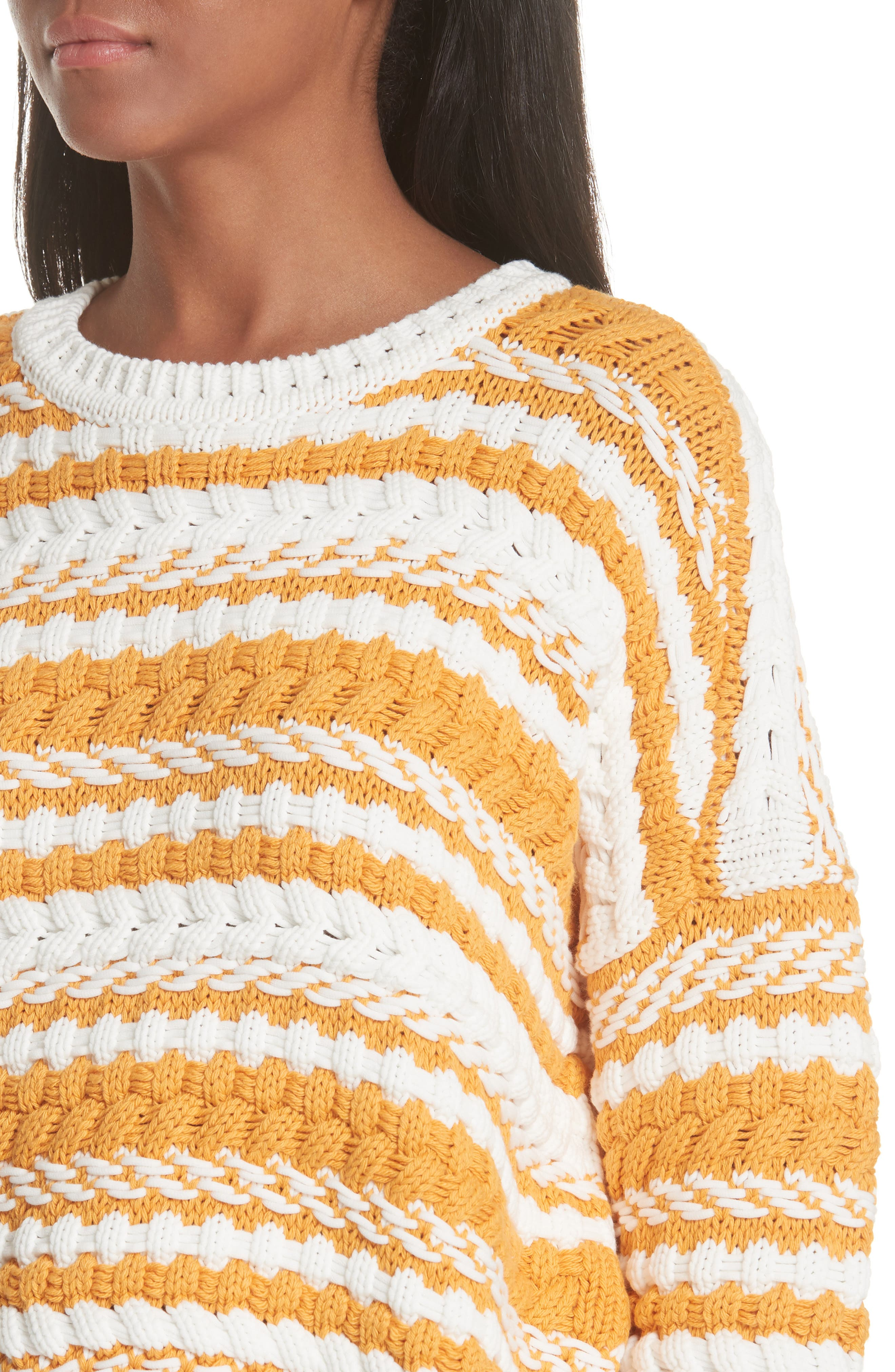 Modeste Chunky Stripe Sweater,                             Alternate thumbnail 4, color,                             800