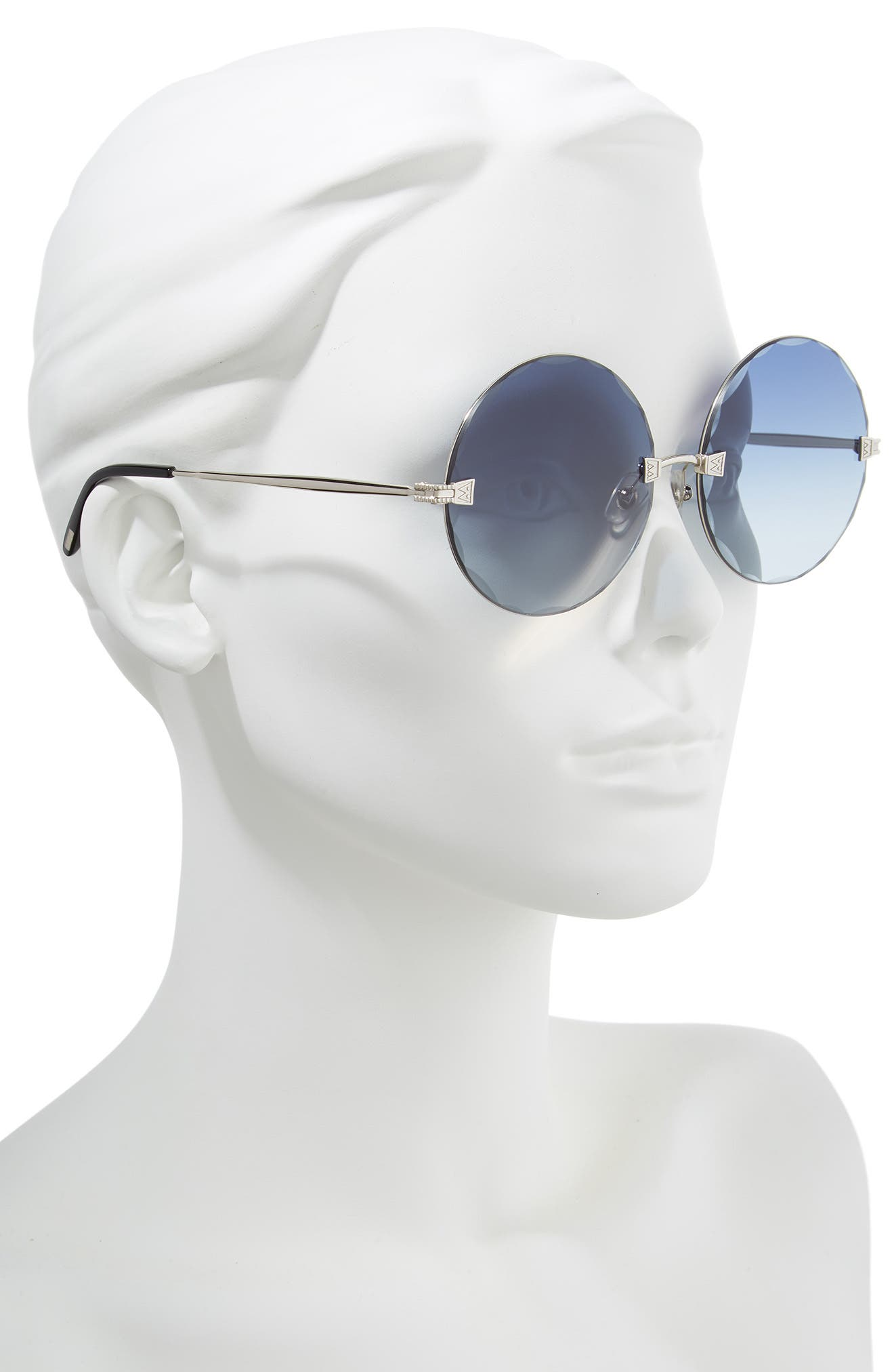 Starlight 62mm Oversize Round Sunglasses,                             Alternate thumbnail 2, color,                             040