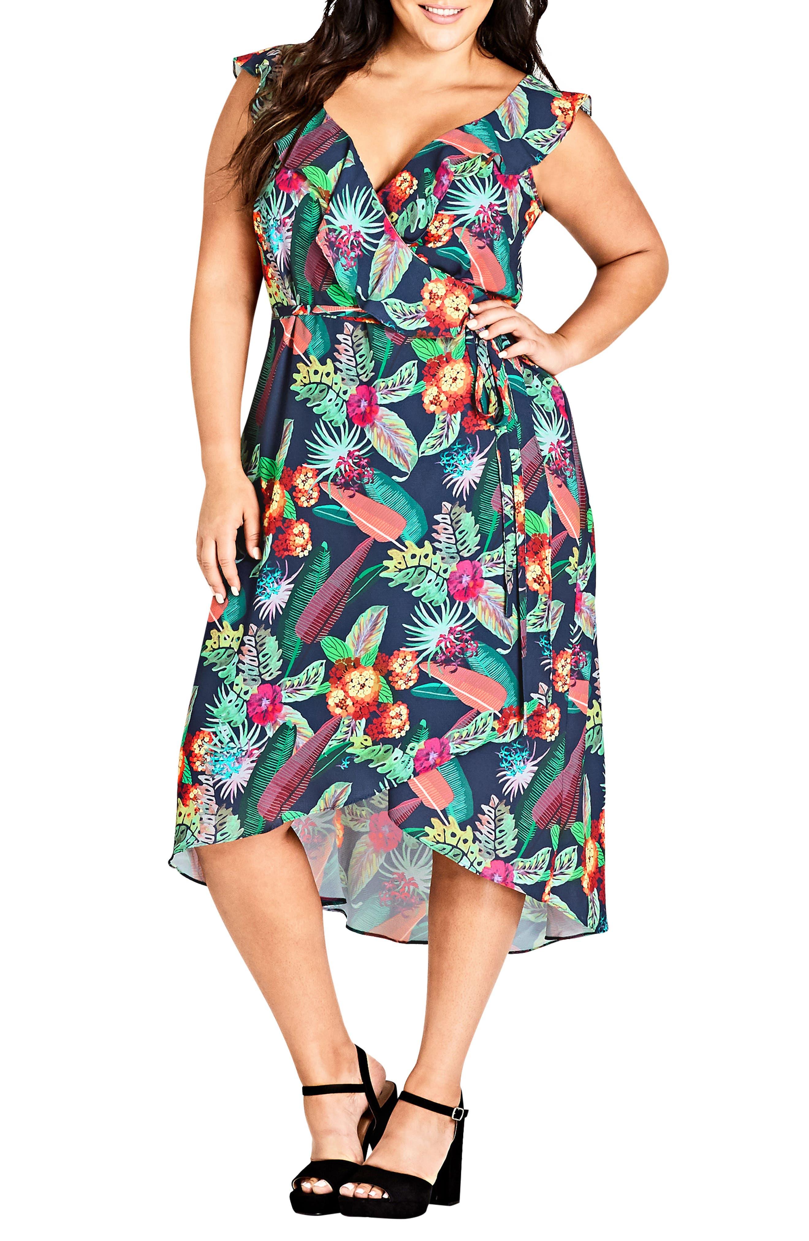 Jungle Jam High/Low Dress,                             Main thumbnail 1, color,                             425