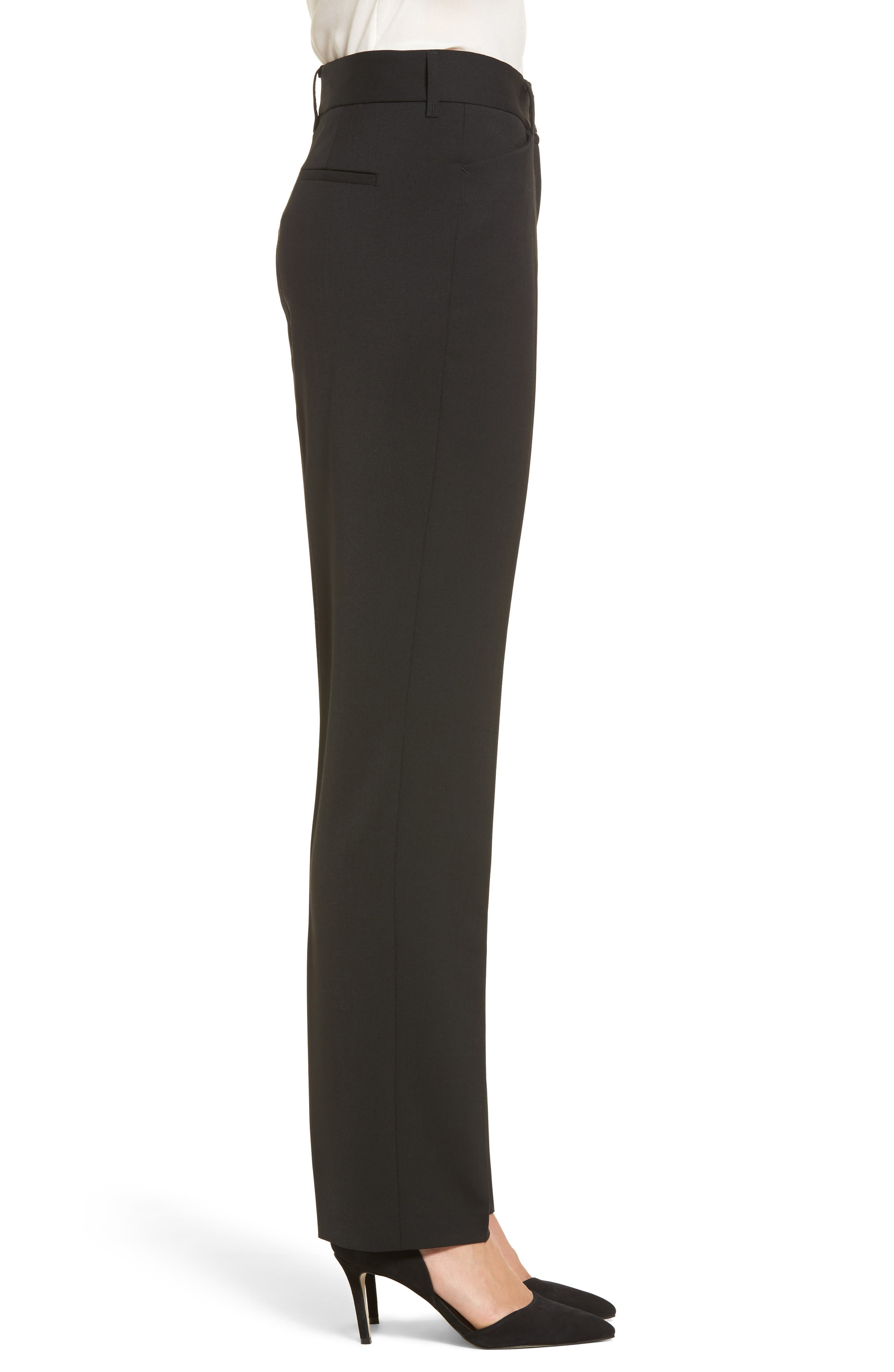 Straight Leg Trousers,                             Alternate thumbnail 3, color,                             002
