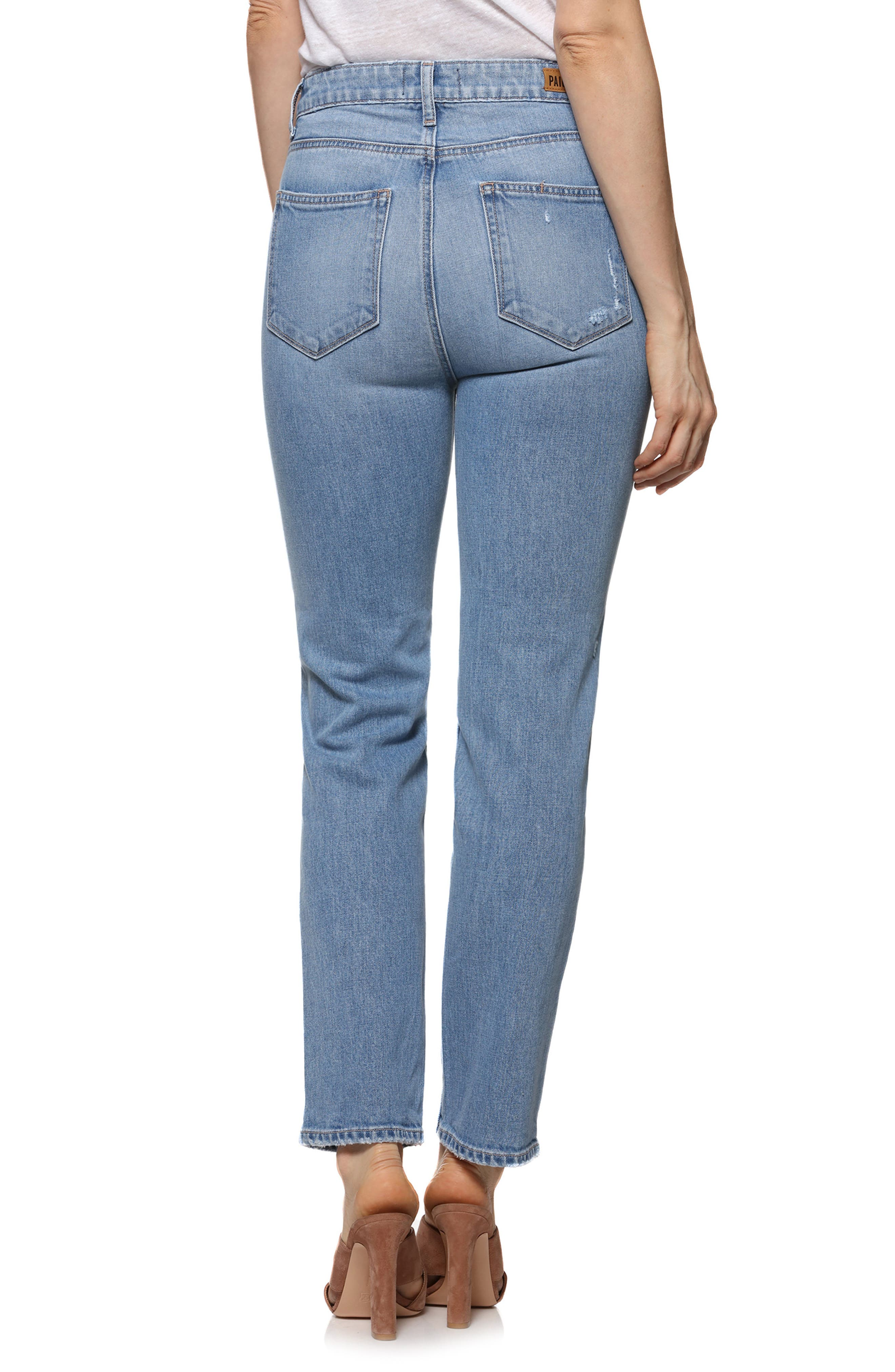 Vintage - Sarah High Waist Straight Leg Jeans,                             Alternate thumbnail 2, color,                             400